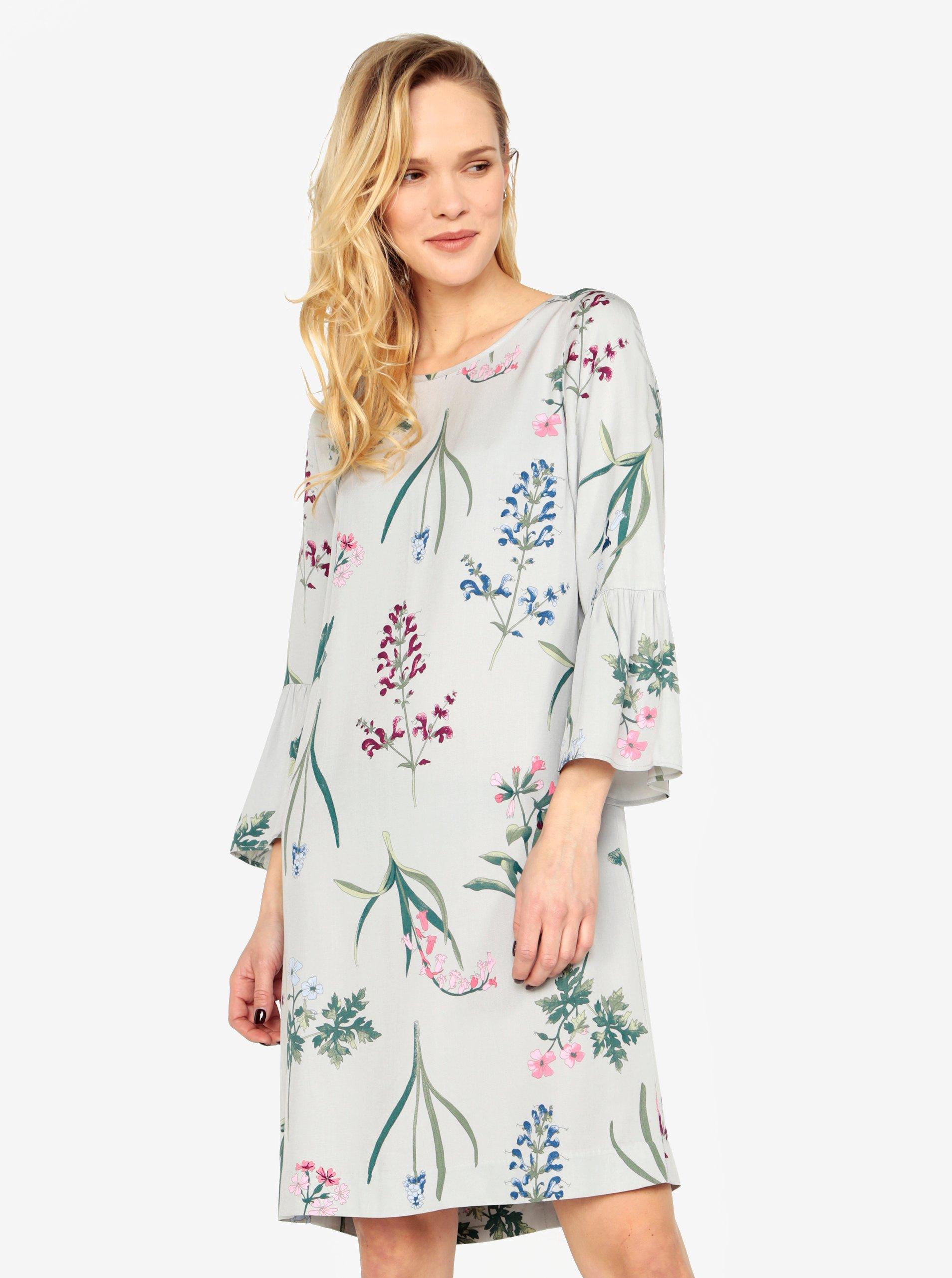 Svetlosivé dámske vzorované šaty Tom Joule Gardenia 6590df901e3