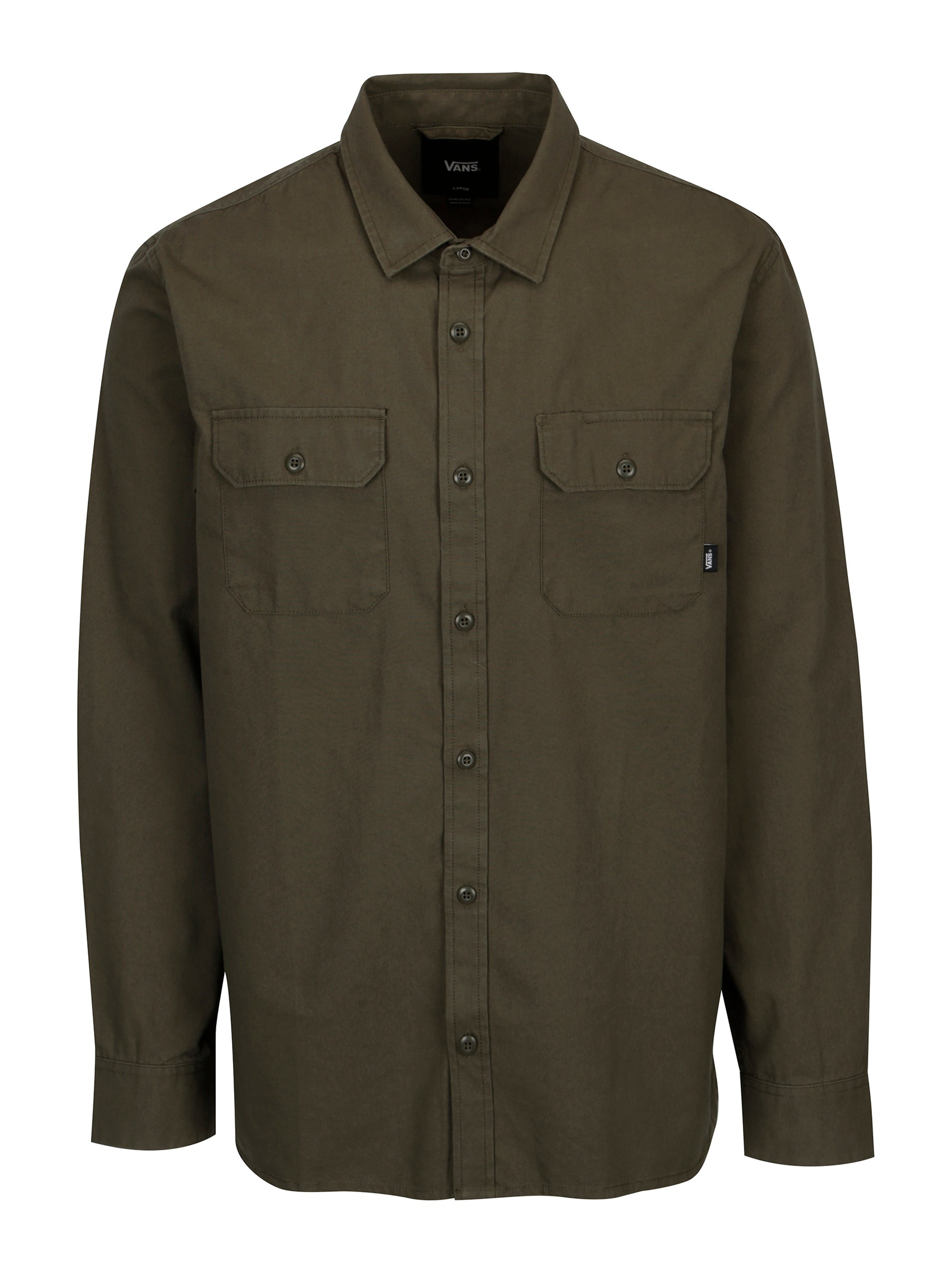 185417d274e Khaki pánská košile s motivem VANS Arlington