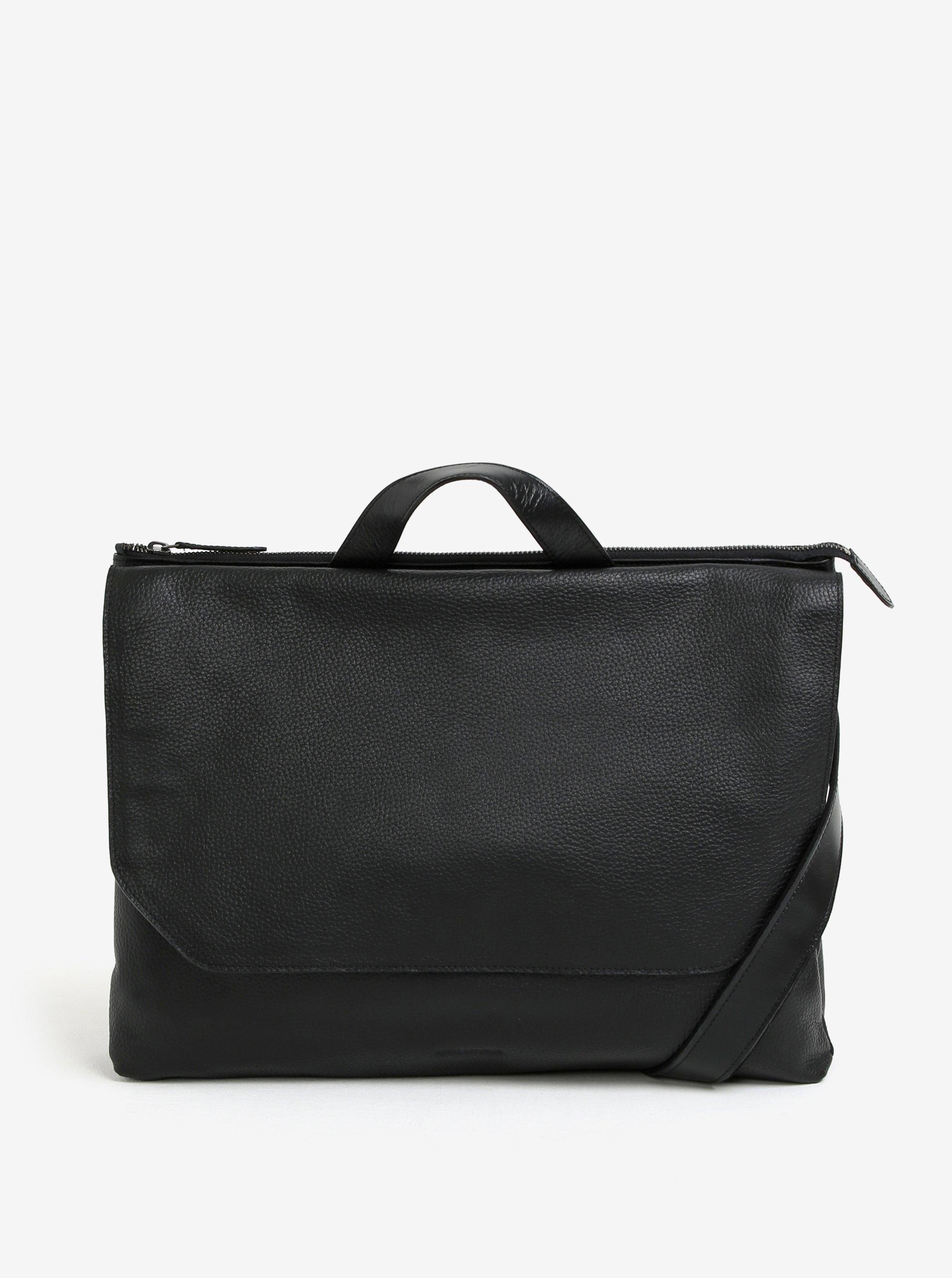 """Černá pánská kožená taška na notebook Royal RepubliQ Omega 13"""""""