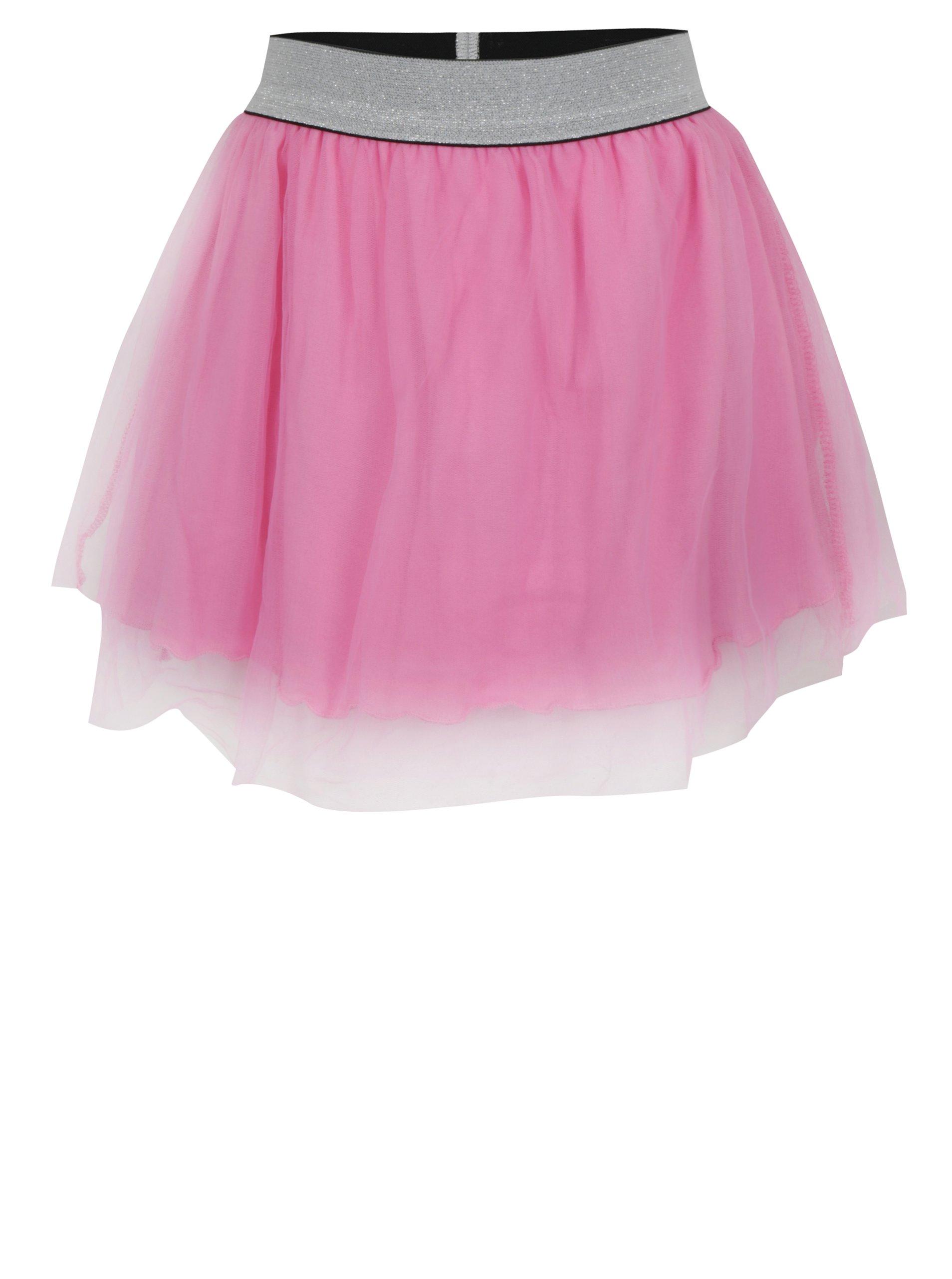 9a836e812f8f Ružová dievčenská tylová sukňa Blue Seven