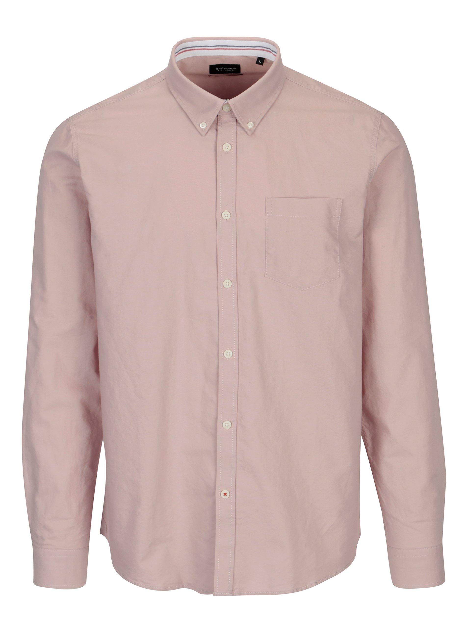 Starorůžová pánská košile Broadway Harrison