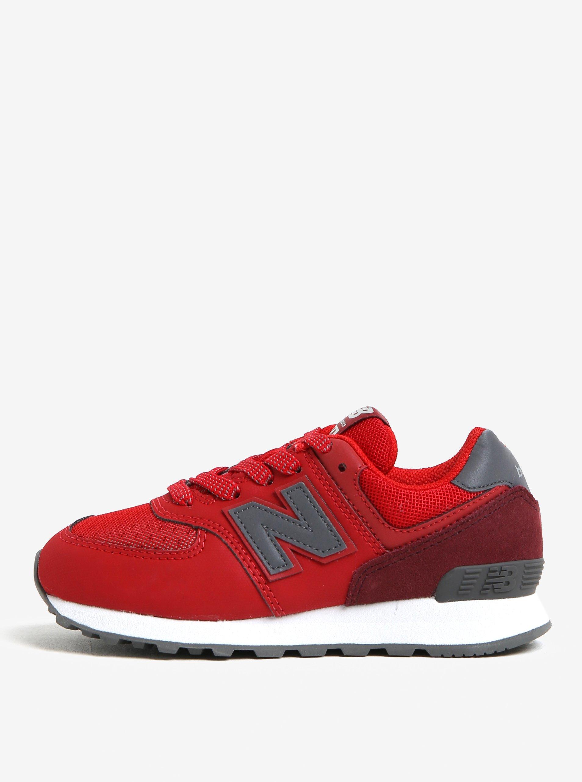 Červené dětské tenisky New Balance