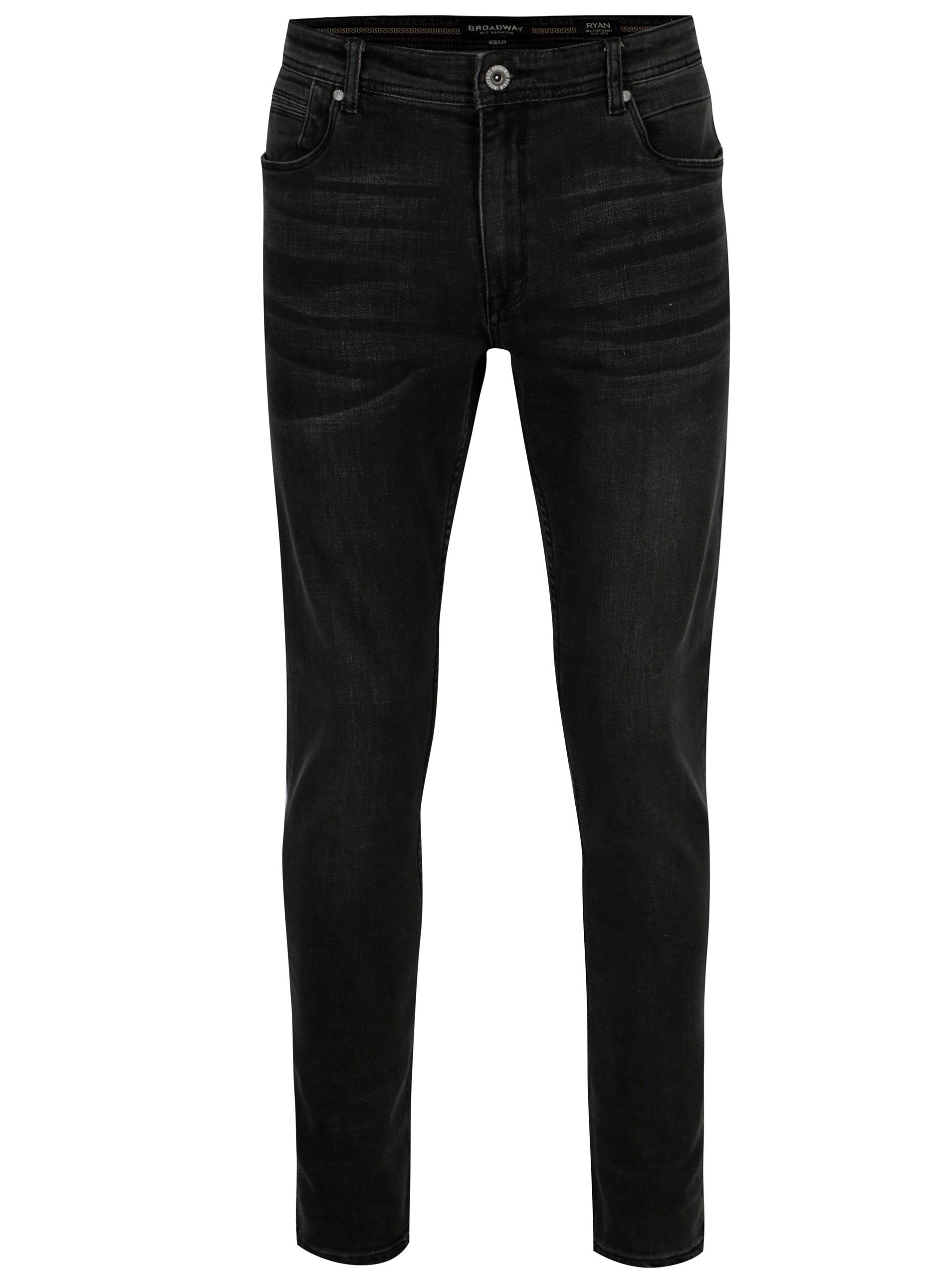 Fotografie Tmavě šedé pánské džíny Broadway Ryan