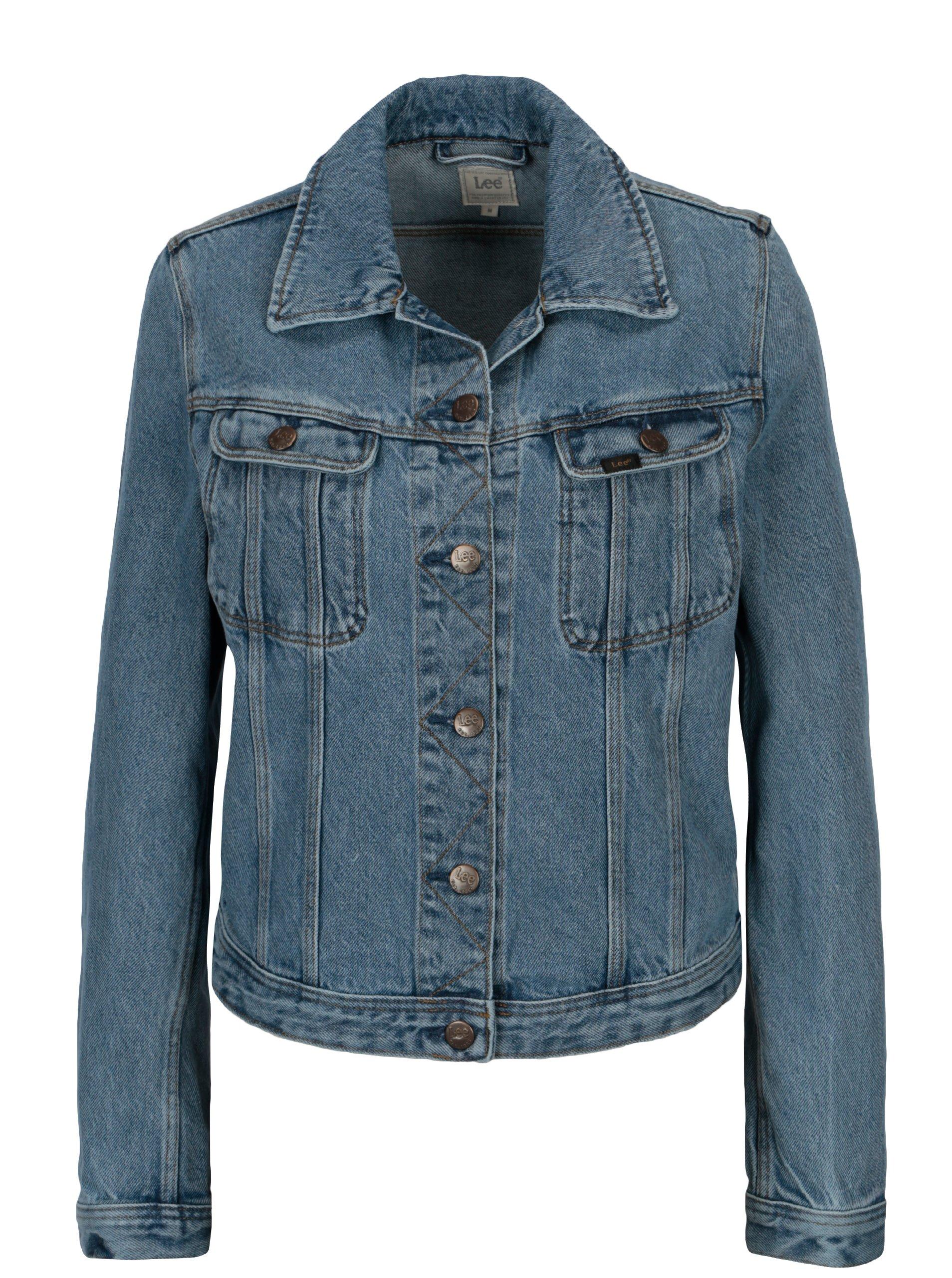 Modrá dámska rifľová bunda Lee Rider 15cf552621b