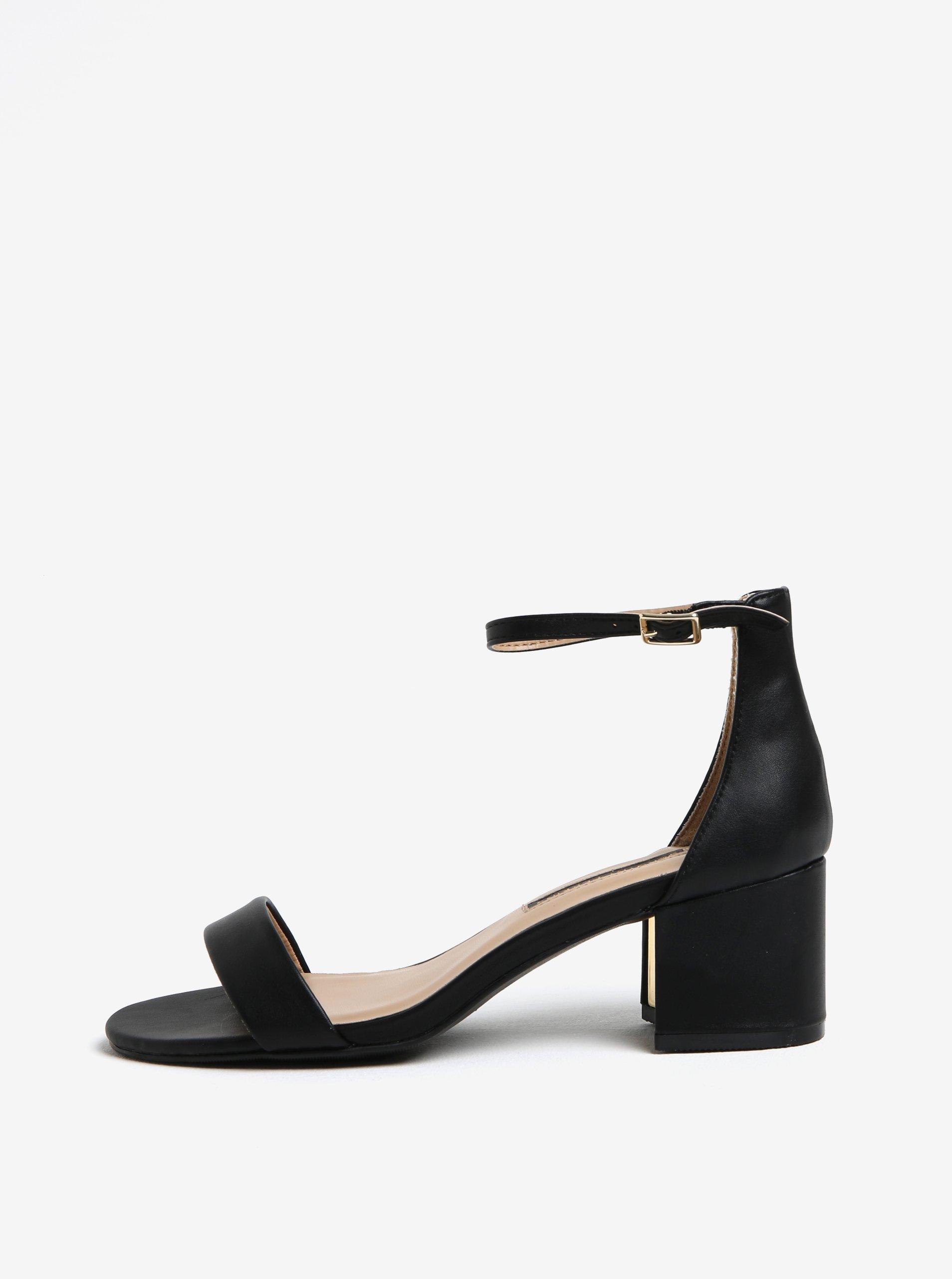 čierne sandále na podpätku Dorothy Perkins 7d88dca28f2