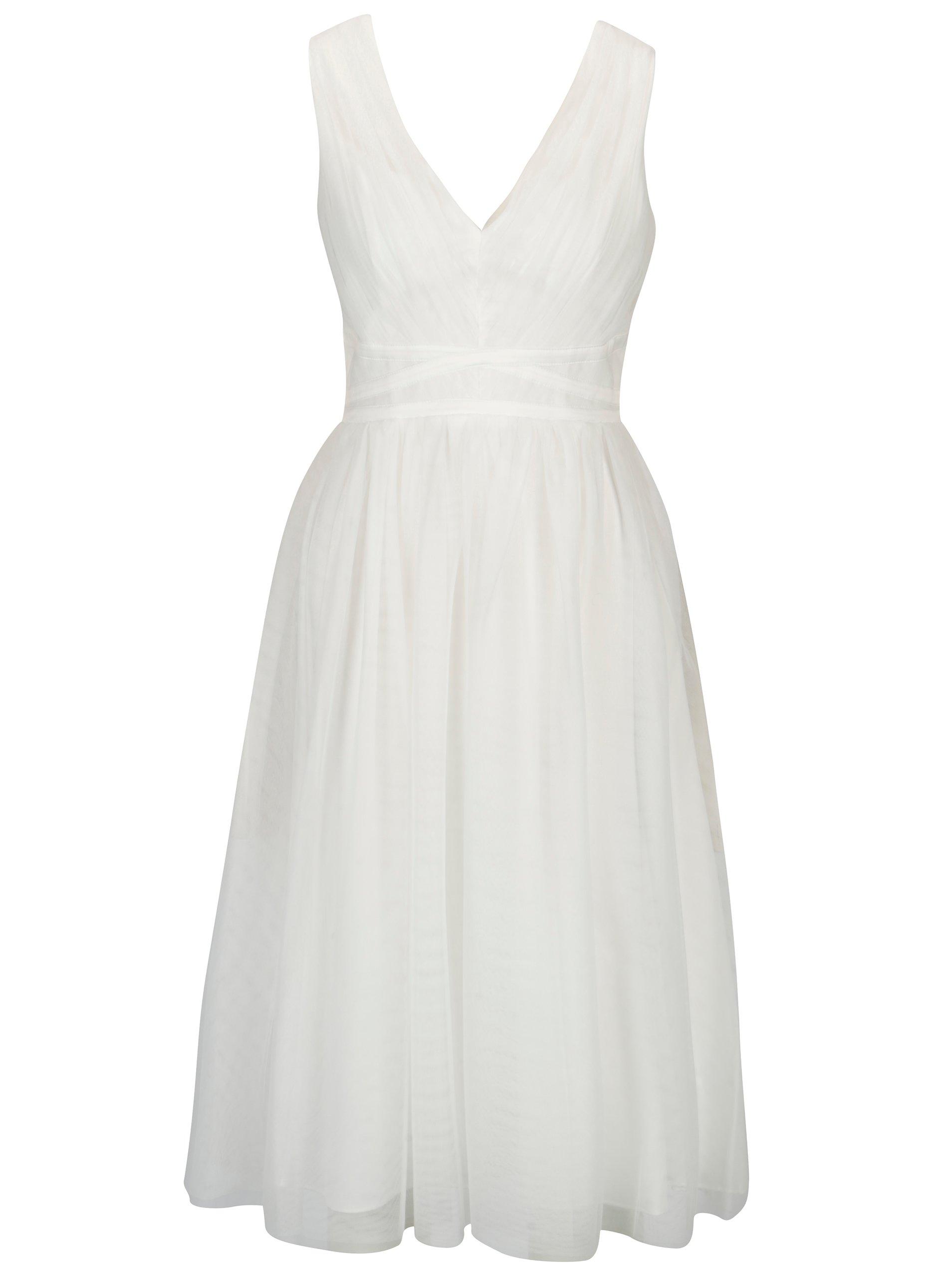 Krémové tylové šaty bez rukávov Showcase by Dorothy Perkins 434cbff0bc4