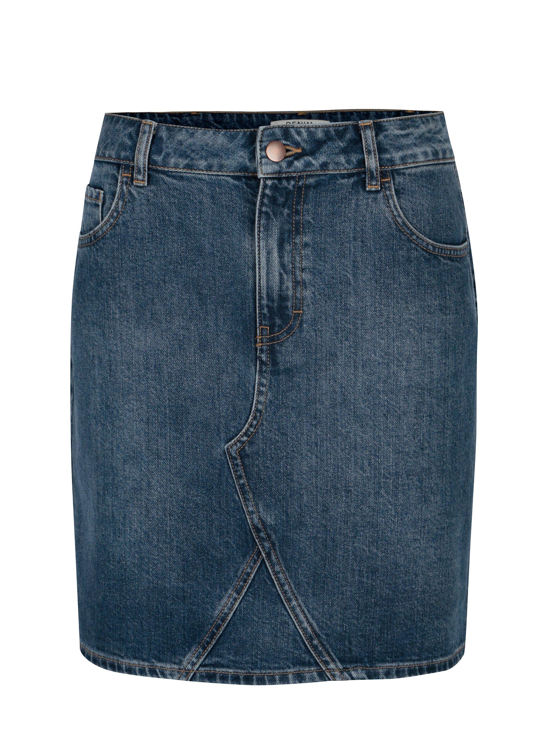 aa9c10385d23 Modrá rifľová sukňa Dorothy Perkins