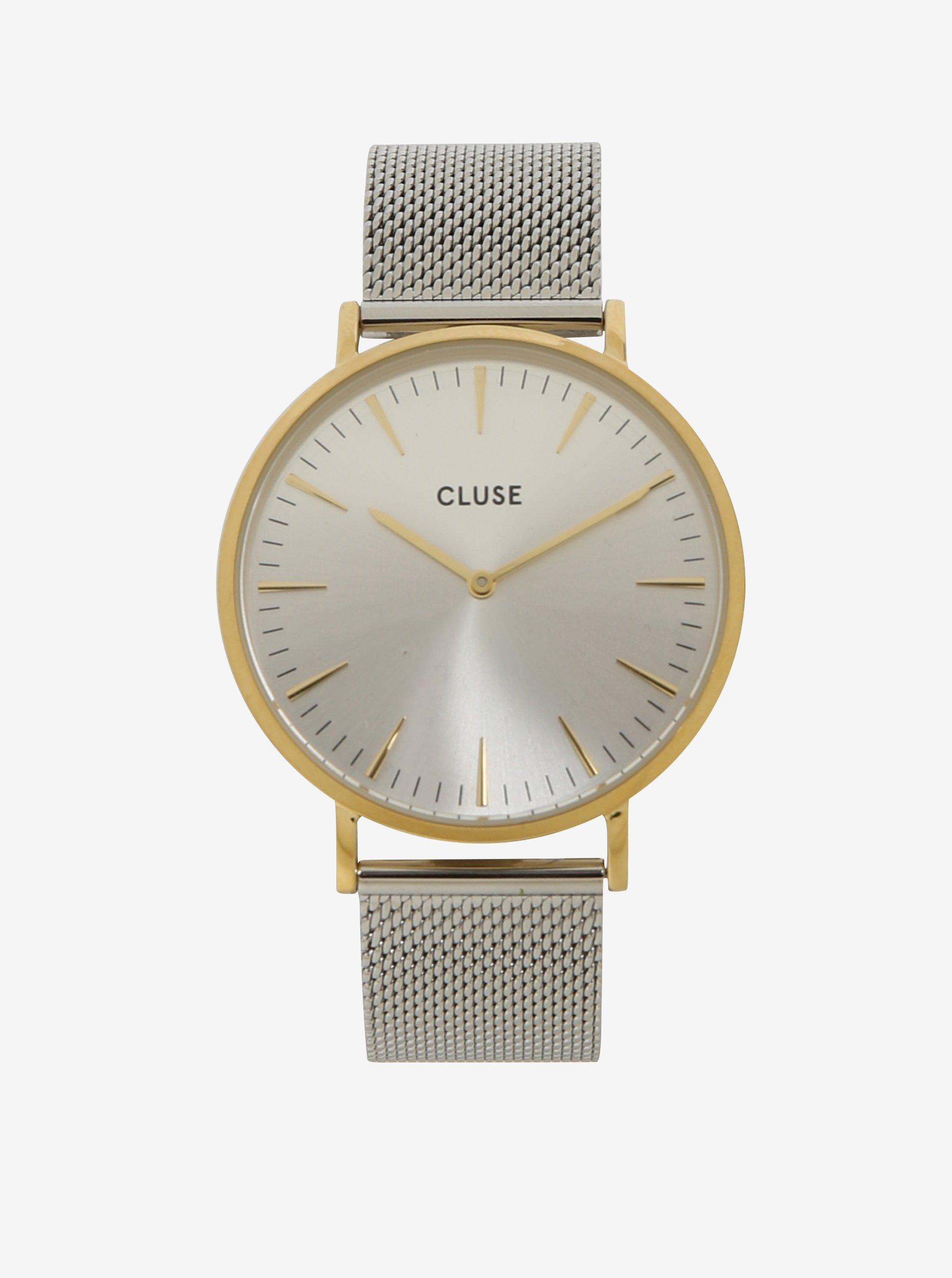 Dámské hodinky zlaté a stříbrné barvě CLUSE