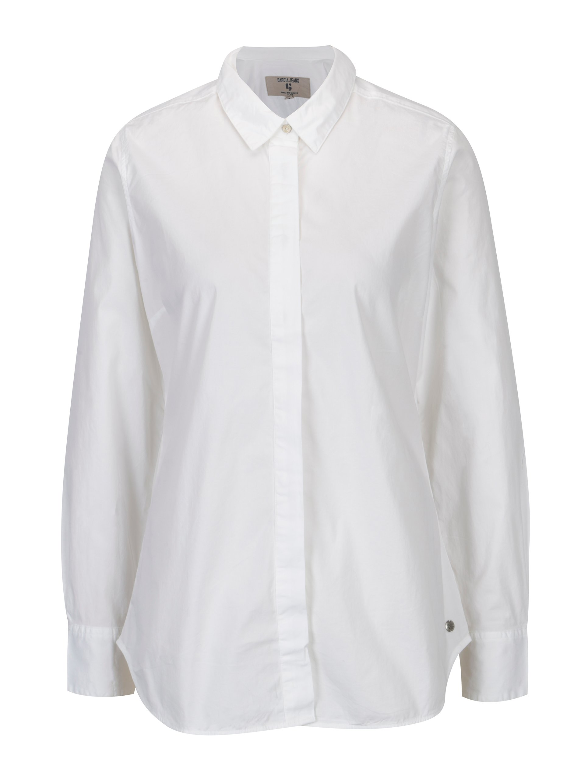 Bílá dámská košile se skrytou légou Garcia Jeans