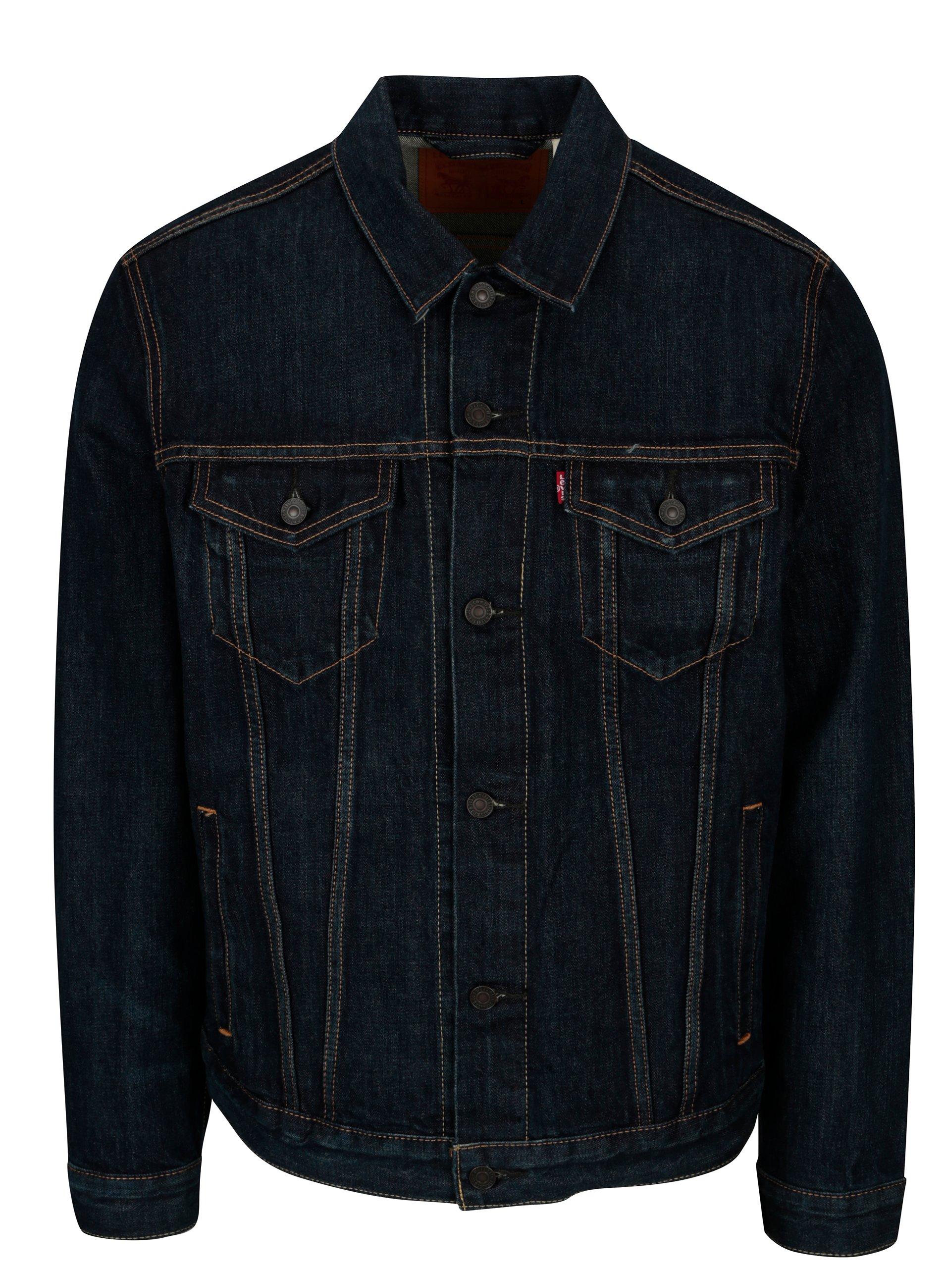 Tmavě modrá pánská džínová bunda Levi's