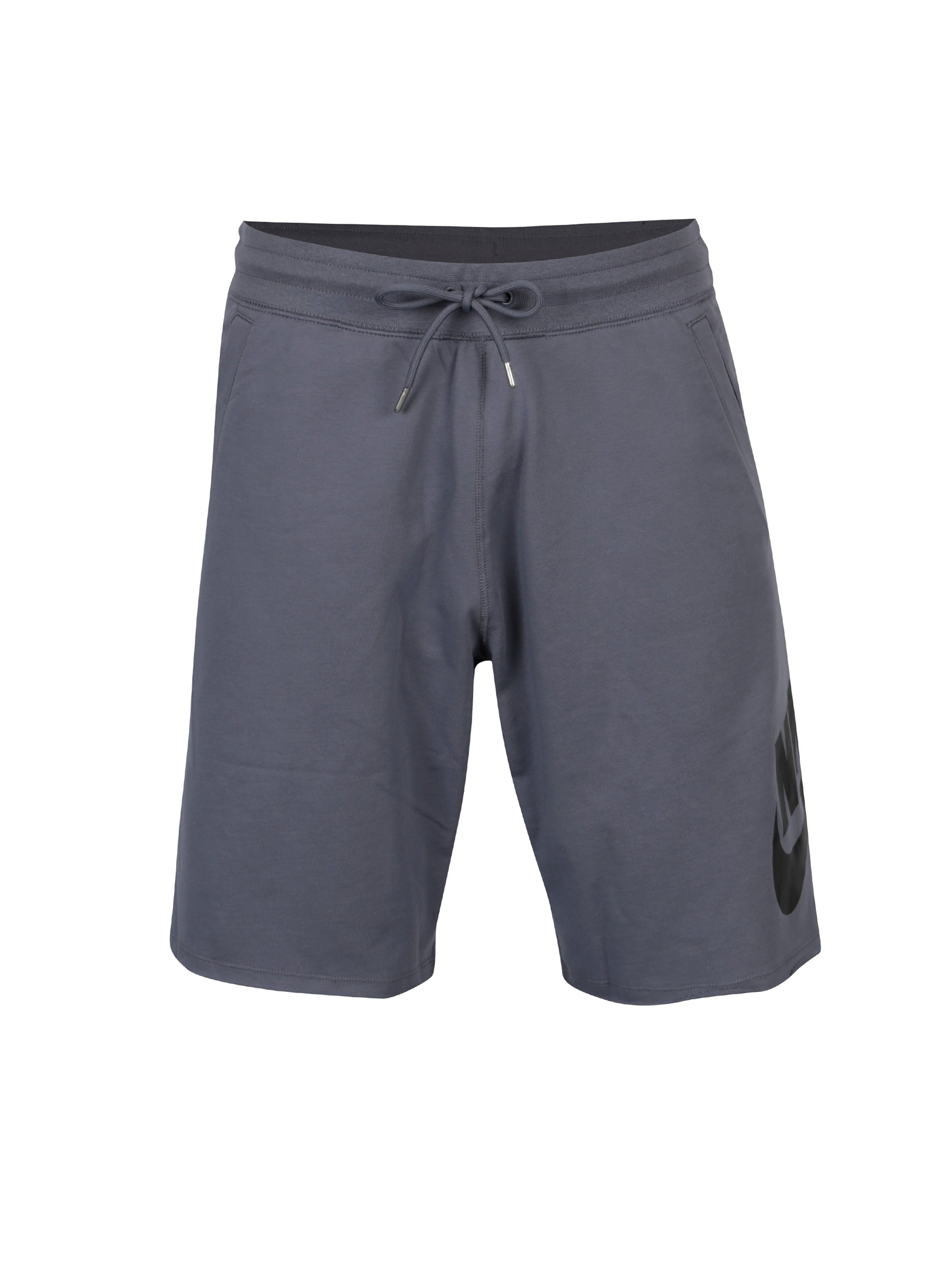 Šedé pánské teplákové loose fit kraťasy Nike