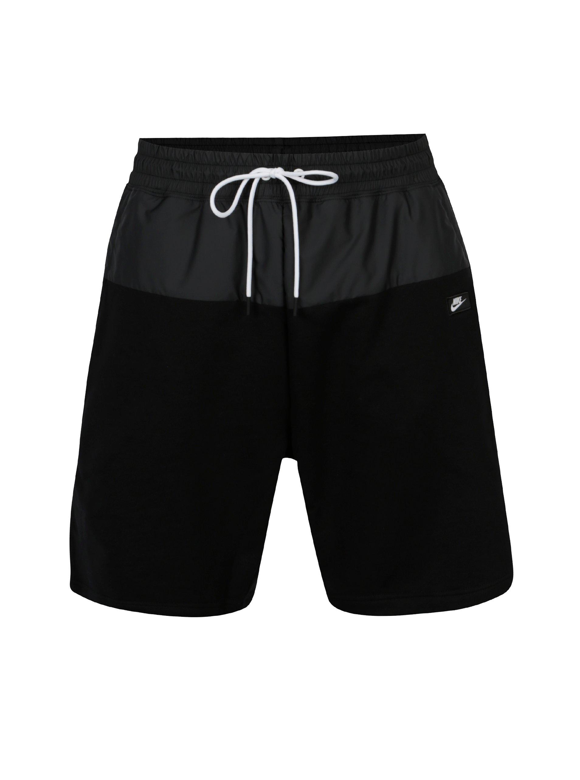 Černé pánské kraťasy s pružným pasem Nike