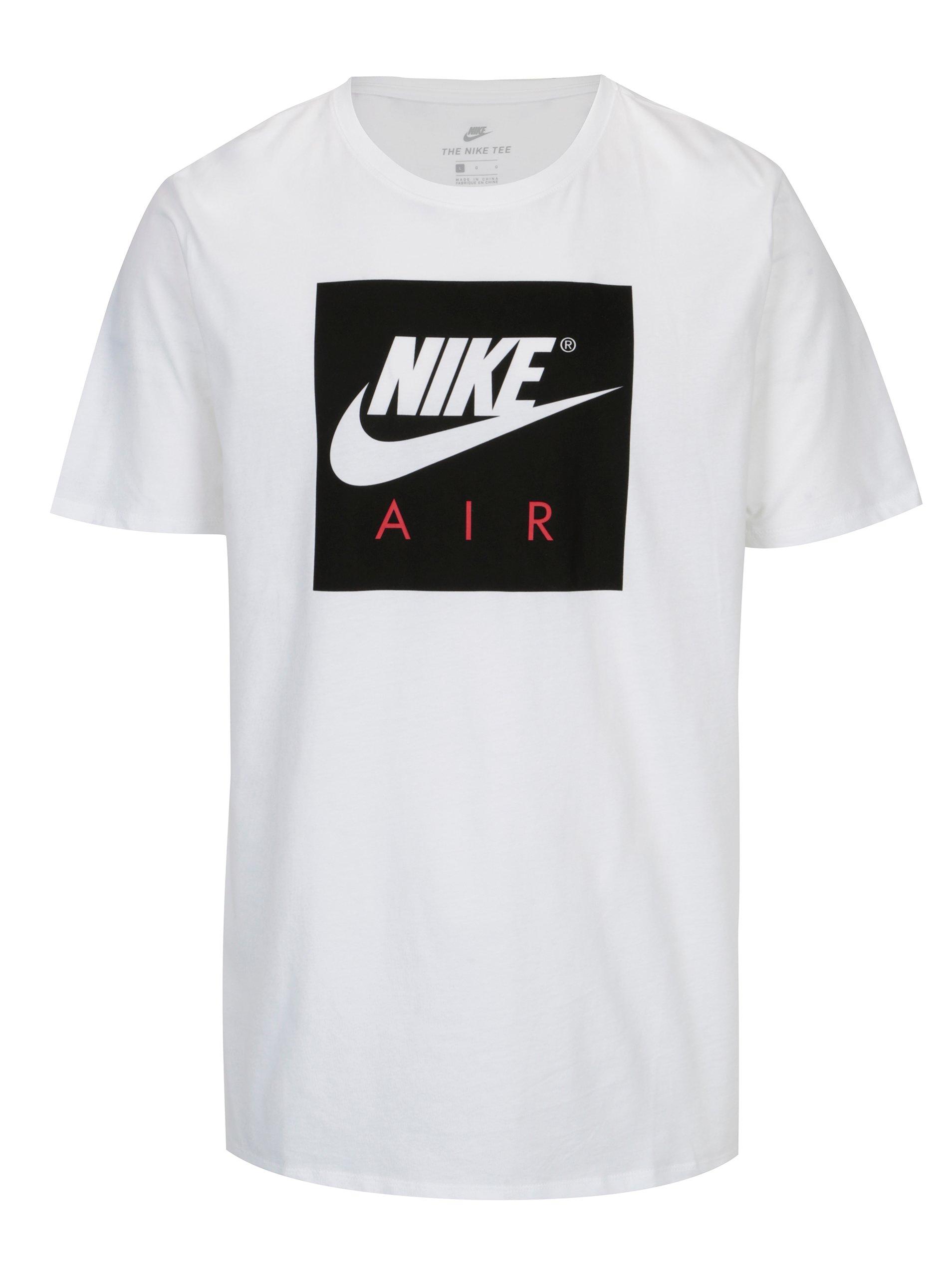 Bílé pánské tričko s černým potiskem Nike