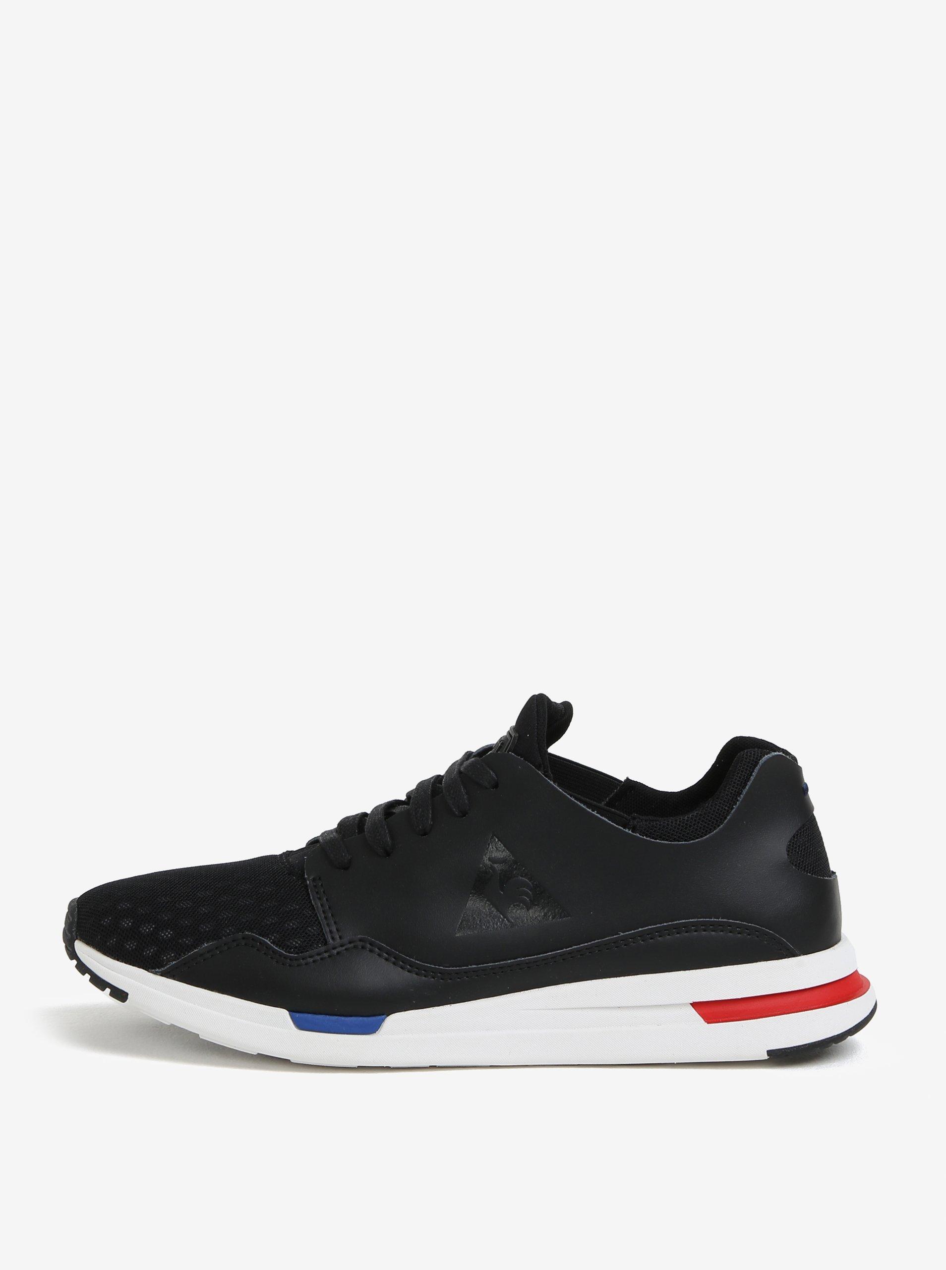 Černé pánské kožené tenisky Le Coq Sportif Pure Lea Sport