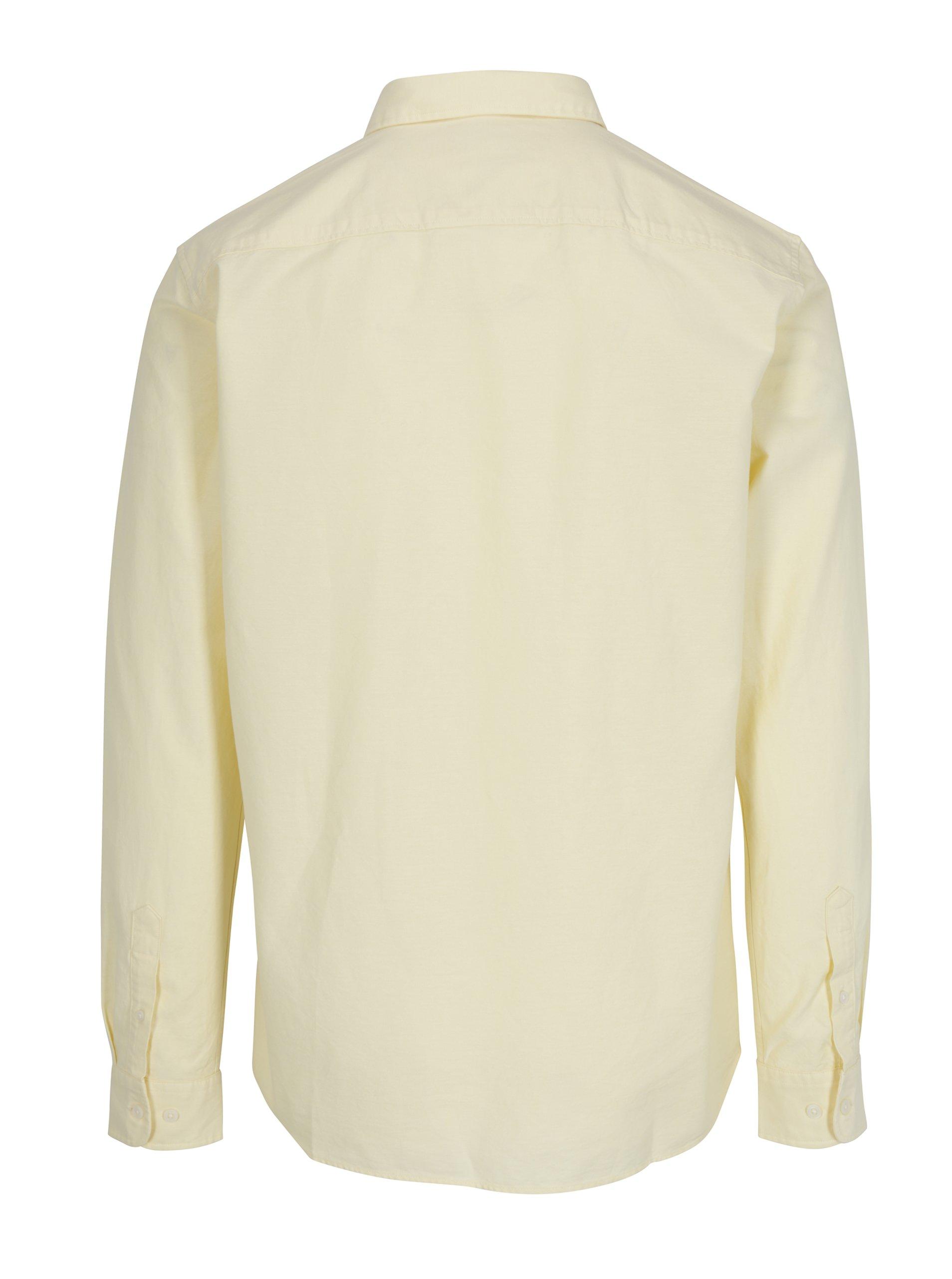 Světle žlutá regular fit košile Selected Homme