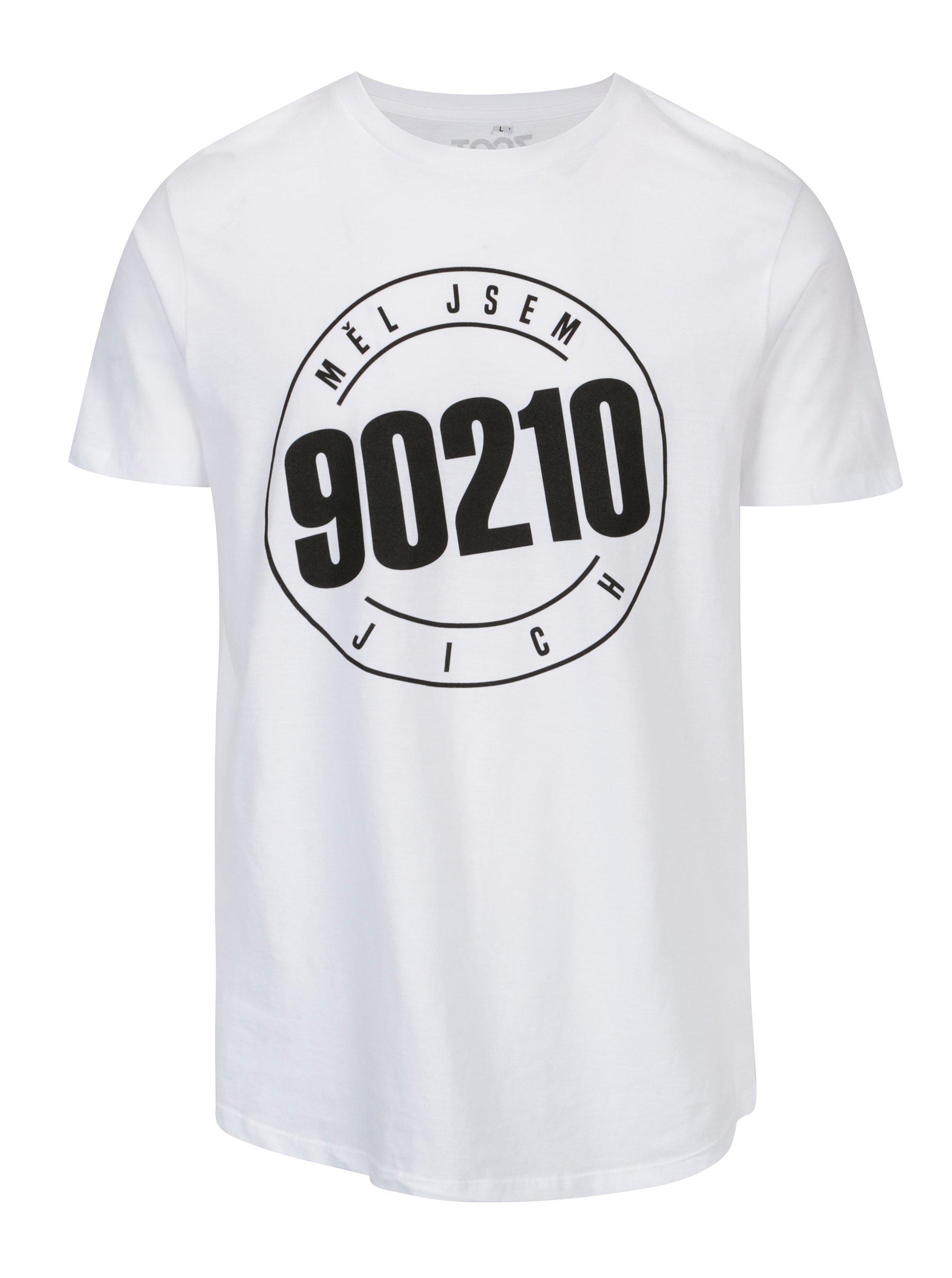 e45ef4fe617 Bílé pánské tričko s potiskem ZOOT Original 90210