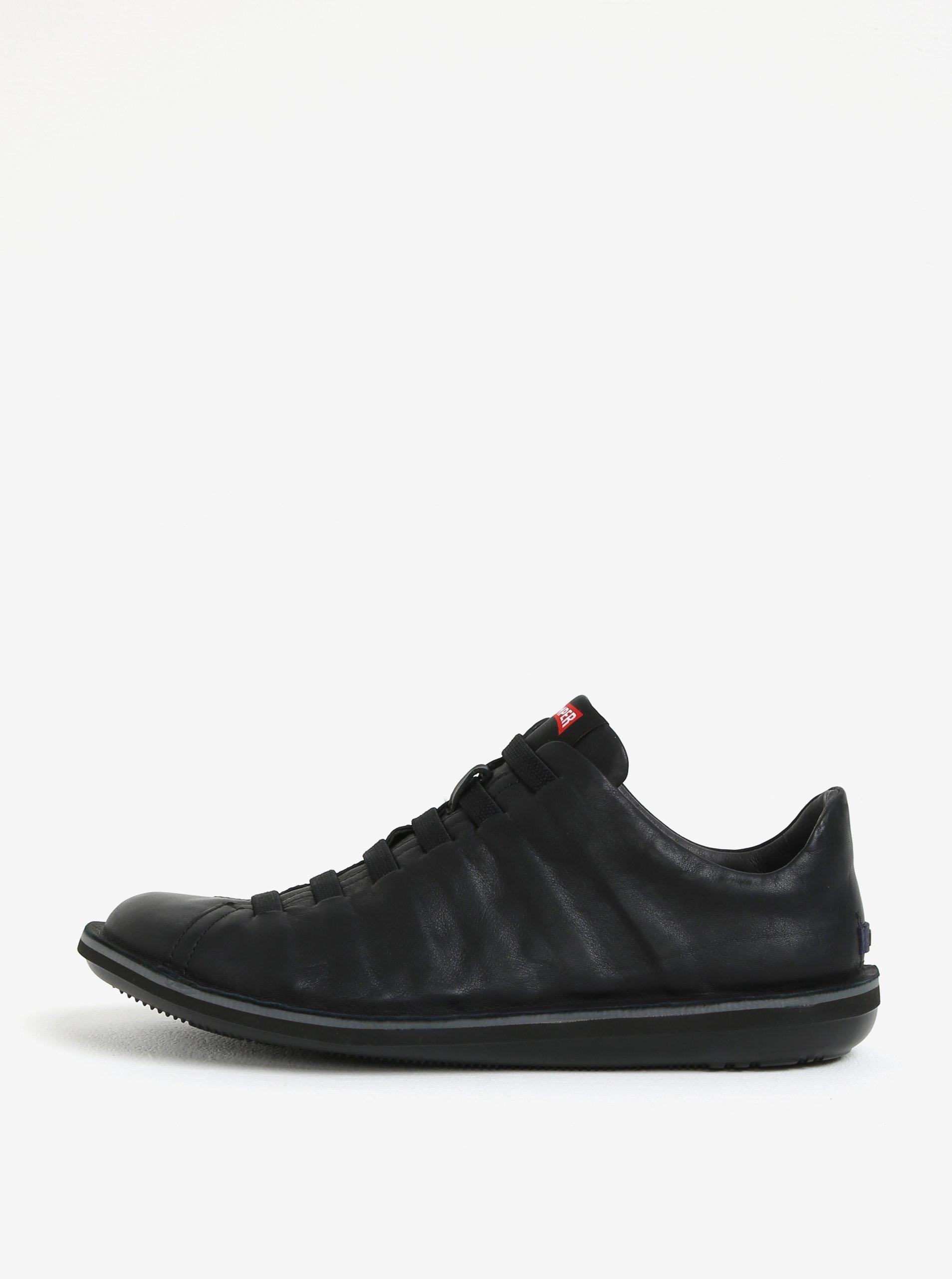 Černé pánské kožené tenisky Camper