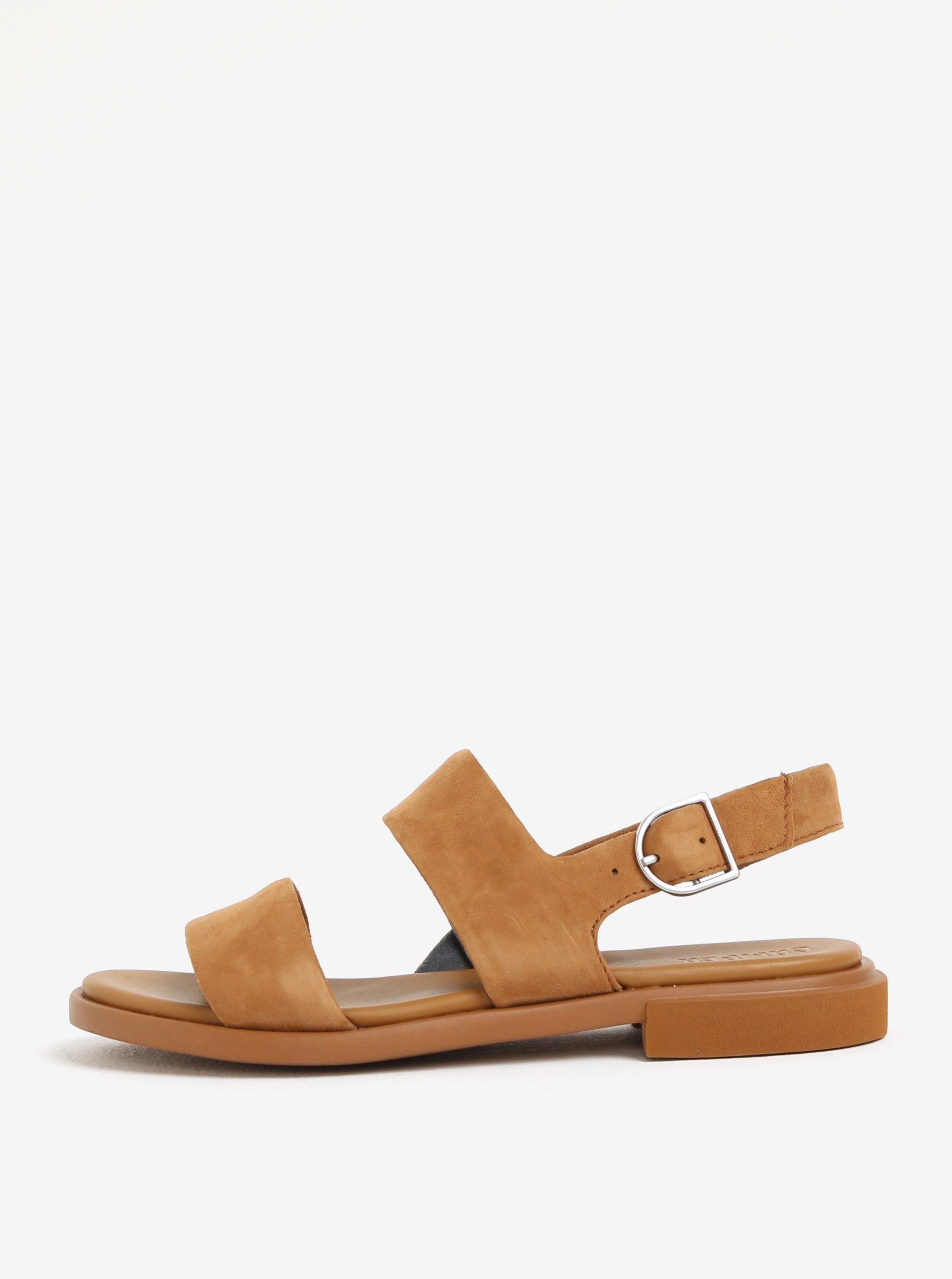 18b718cded0b Hnedé dámske semišové sandále Camper Edy
