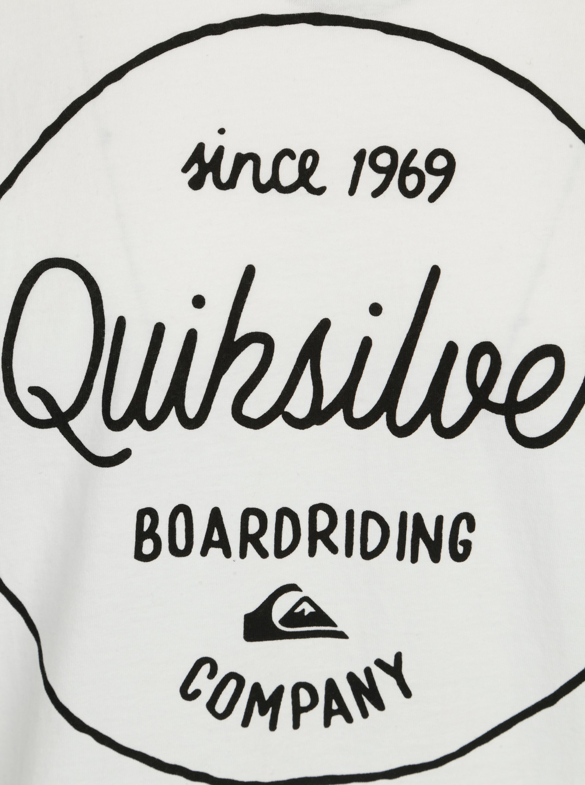 Bílé pánské  regular fit tričko s potiskem Quiksilver