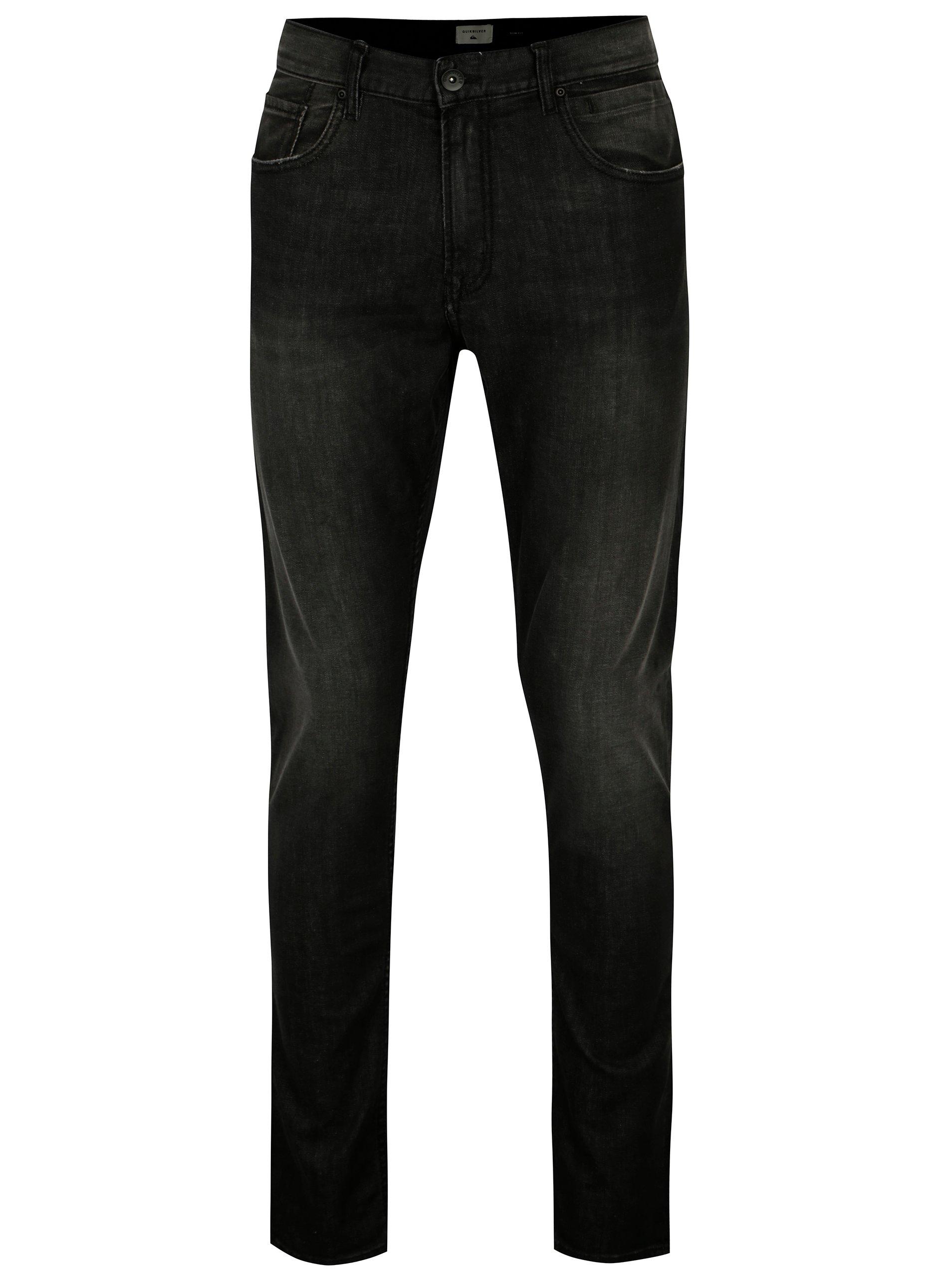 Černé pánské slim fit džíny Quiksilver d28364ace3