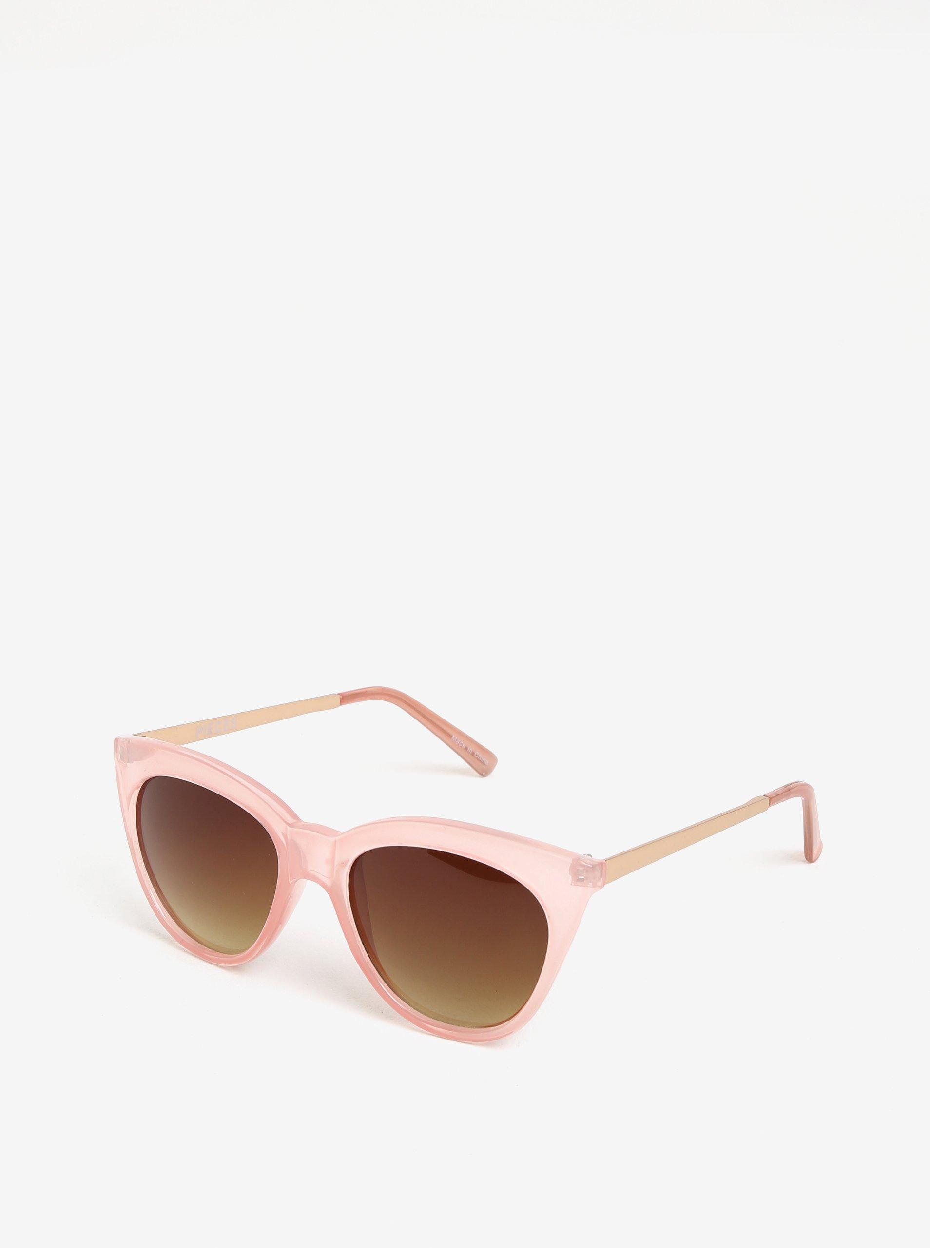 b50c2a582 Svetloružové slnečné okuliare Pieces Melika