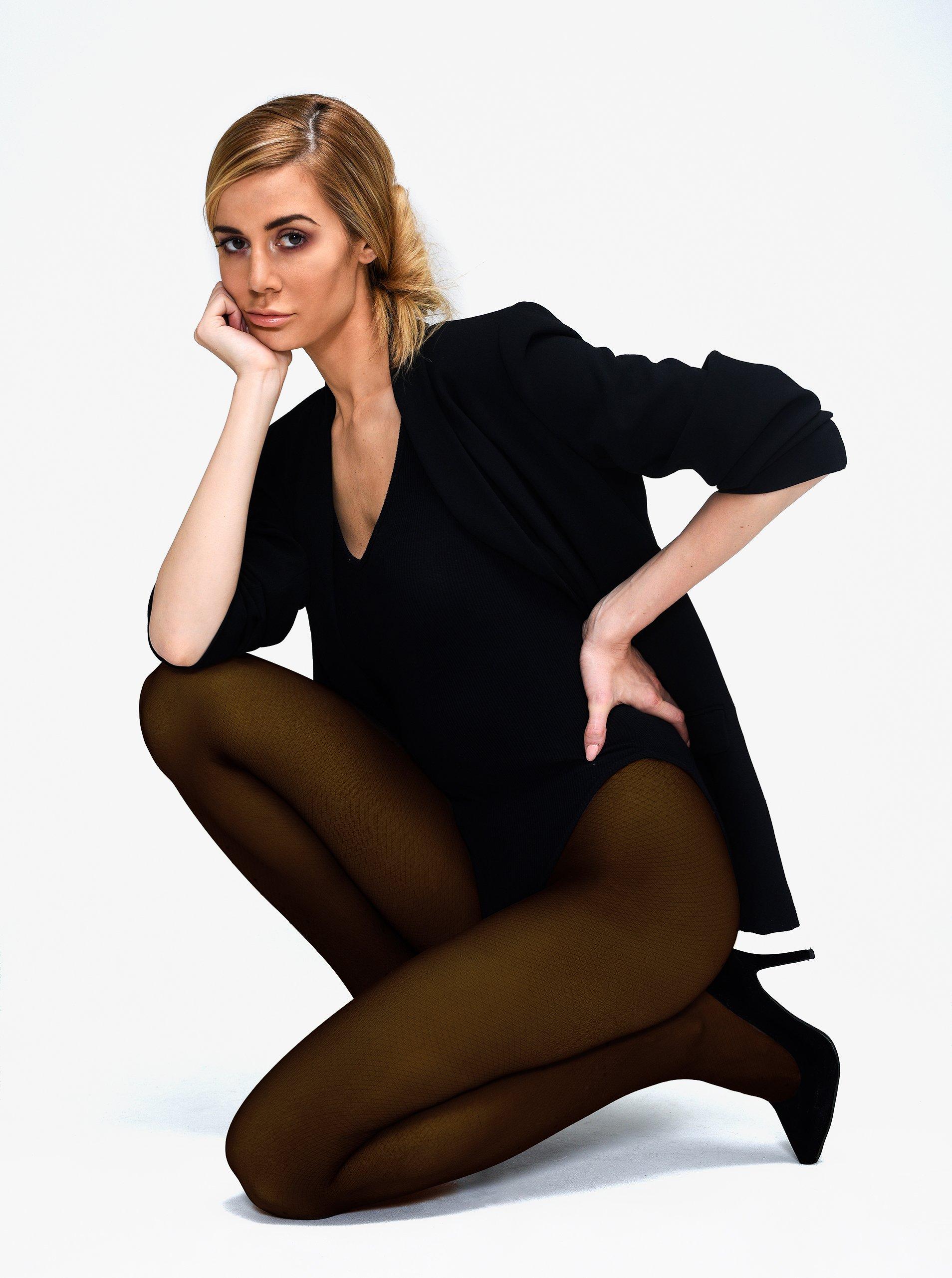 Tmavě hnědé punčochové kalhoty Andrea Bucci 60 DEN