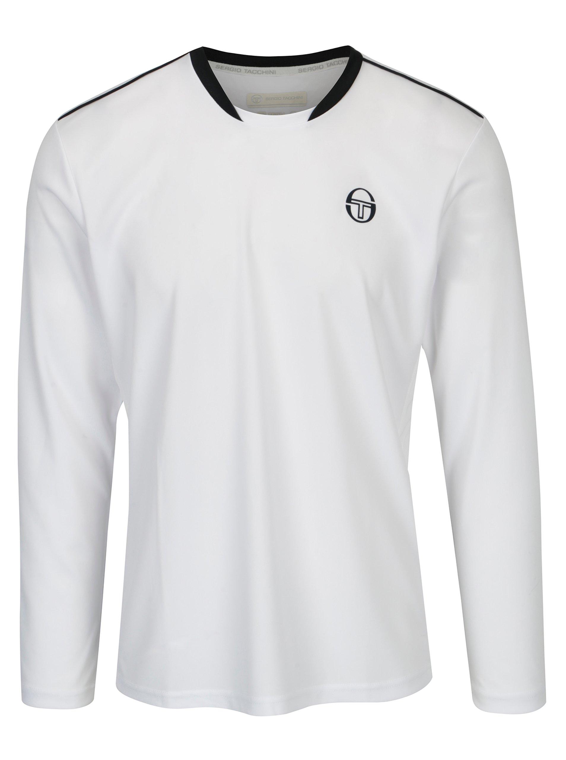 Bílé pánské sportovní tričko s dlouhým rukávem Sergio Tacchini Club Tech