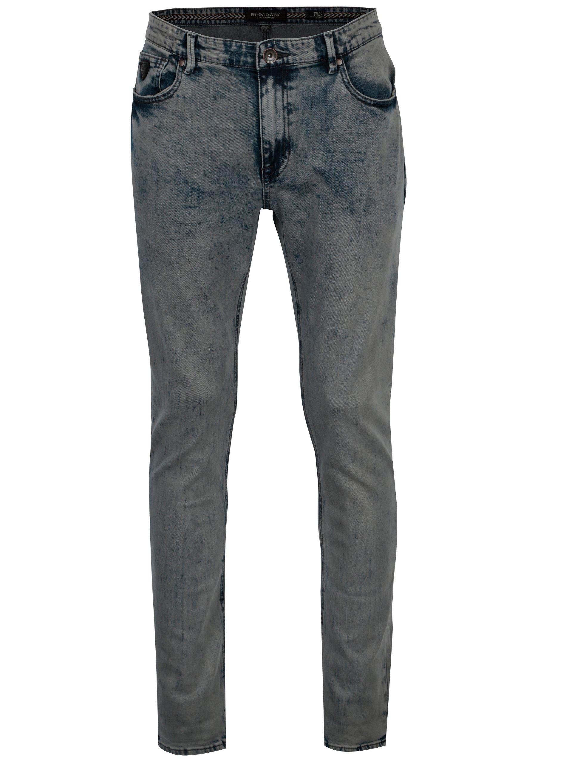 Světle modré pánské slim fit džíny Broadway Tyler
