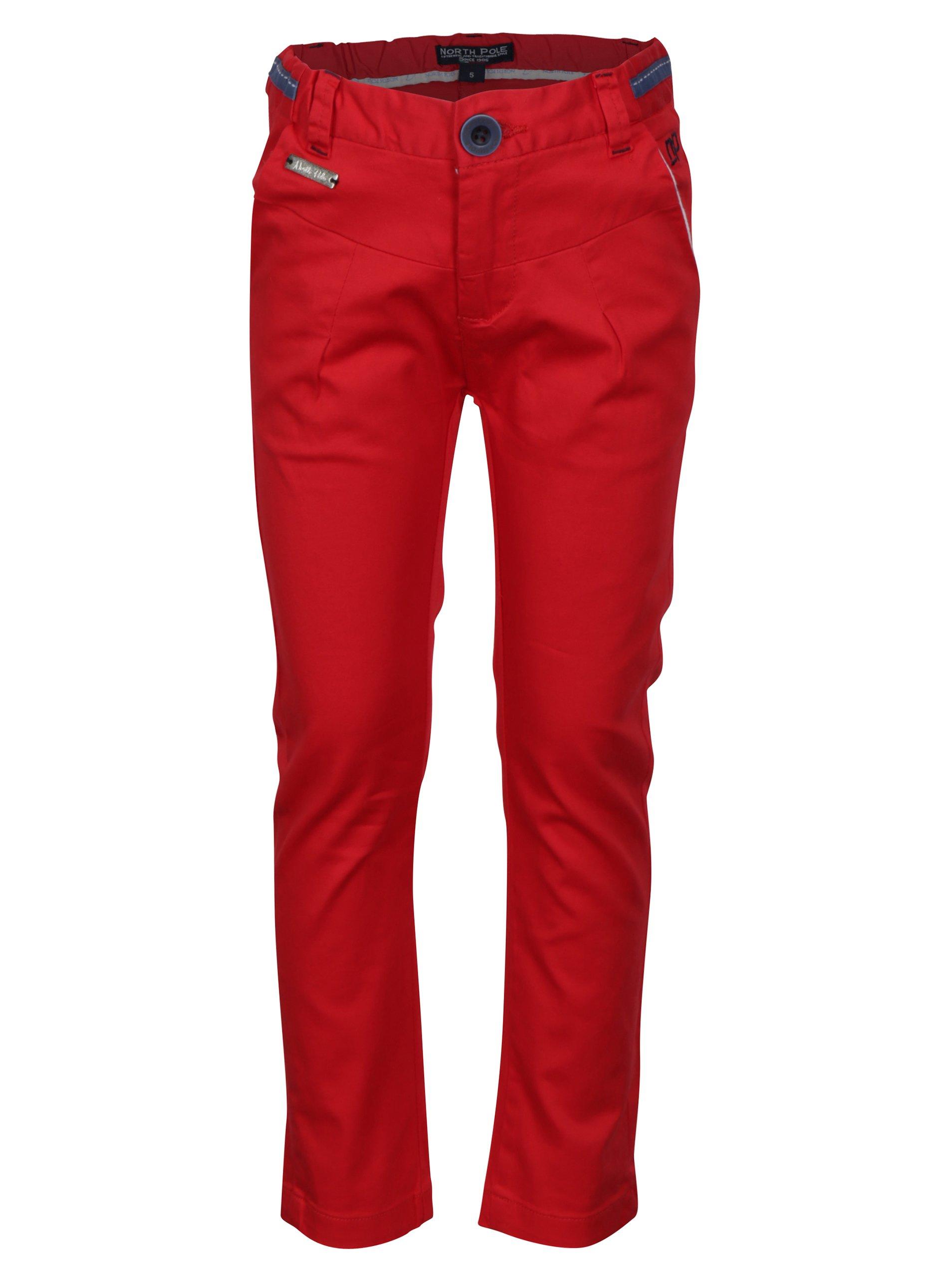 Červené klučičí kalhoty North Pole Kids