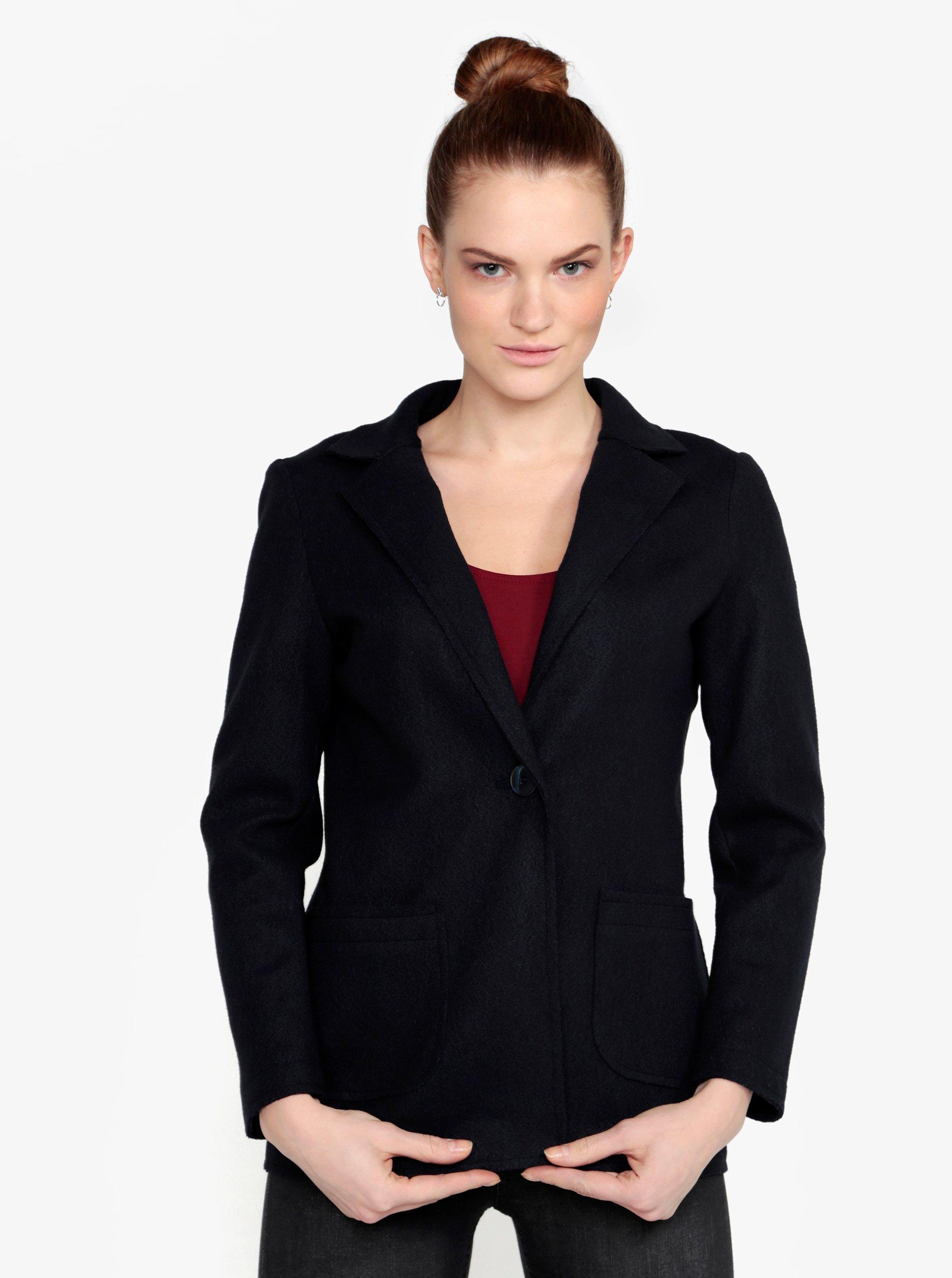 Tmavě modrý krátký kabát ZOOT