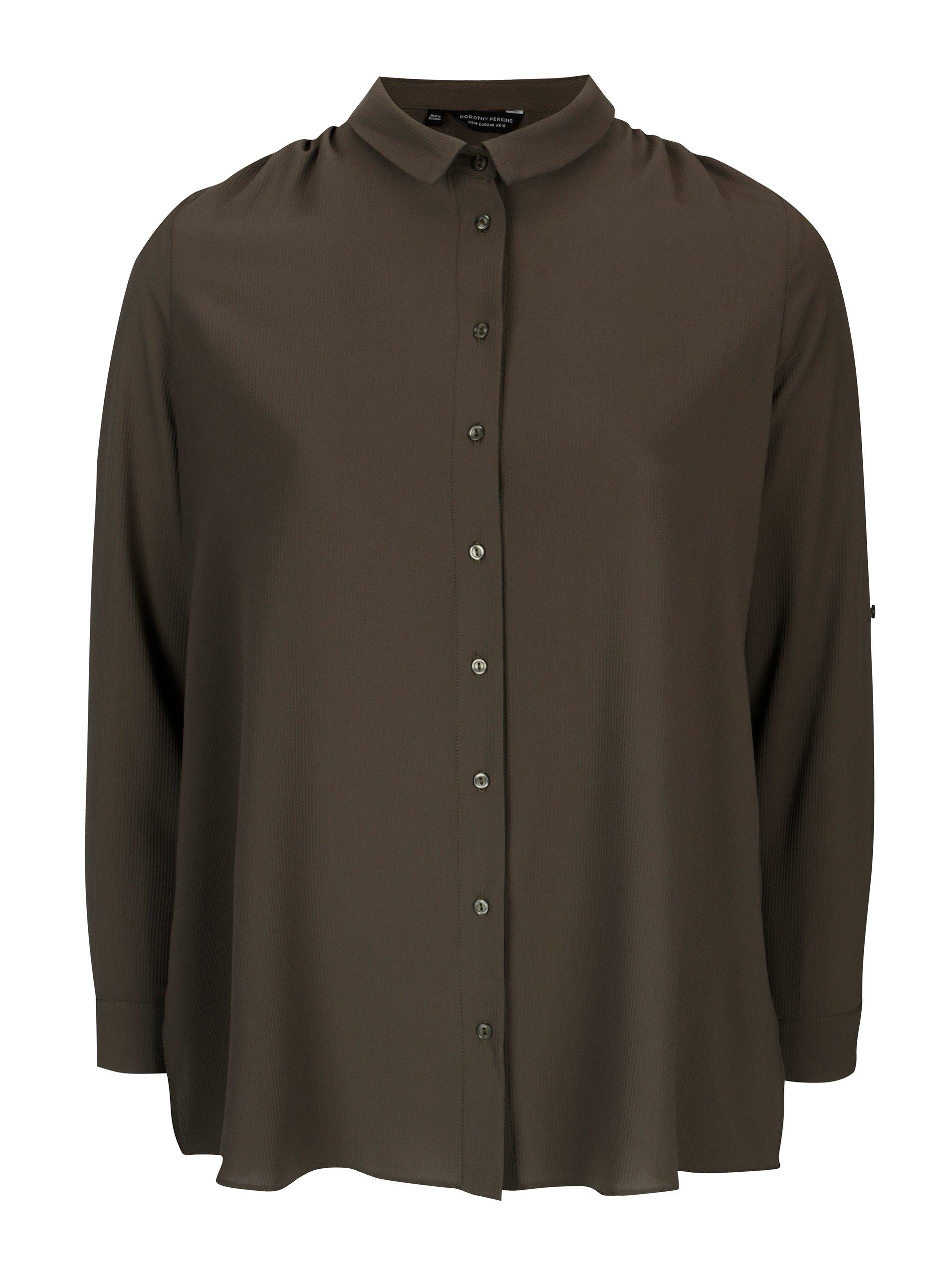 Khaki košile Dorothy Perkins Curve