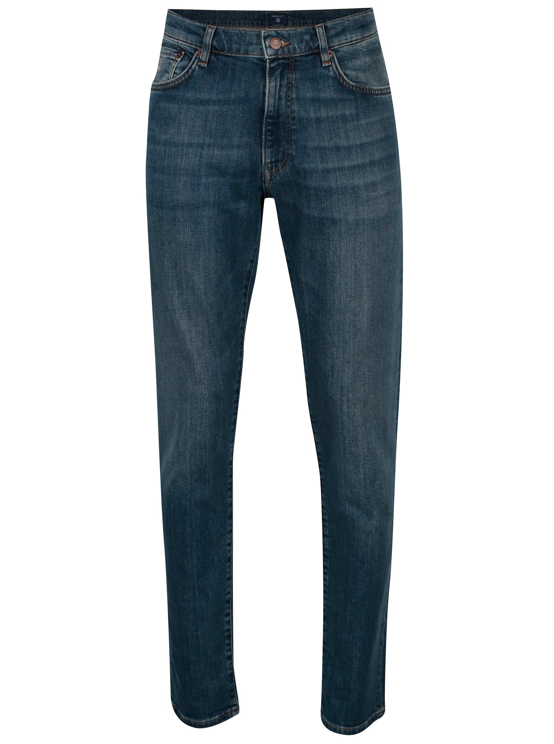 c6b20be7af7 Modré pánské slim džíny GANT