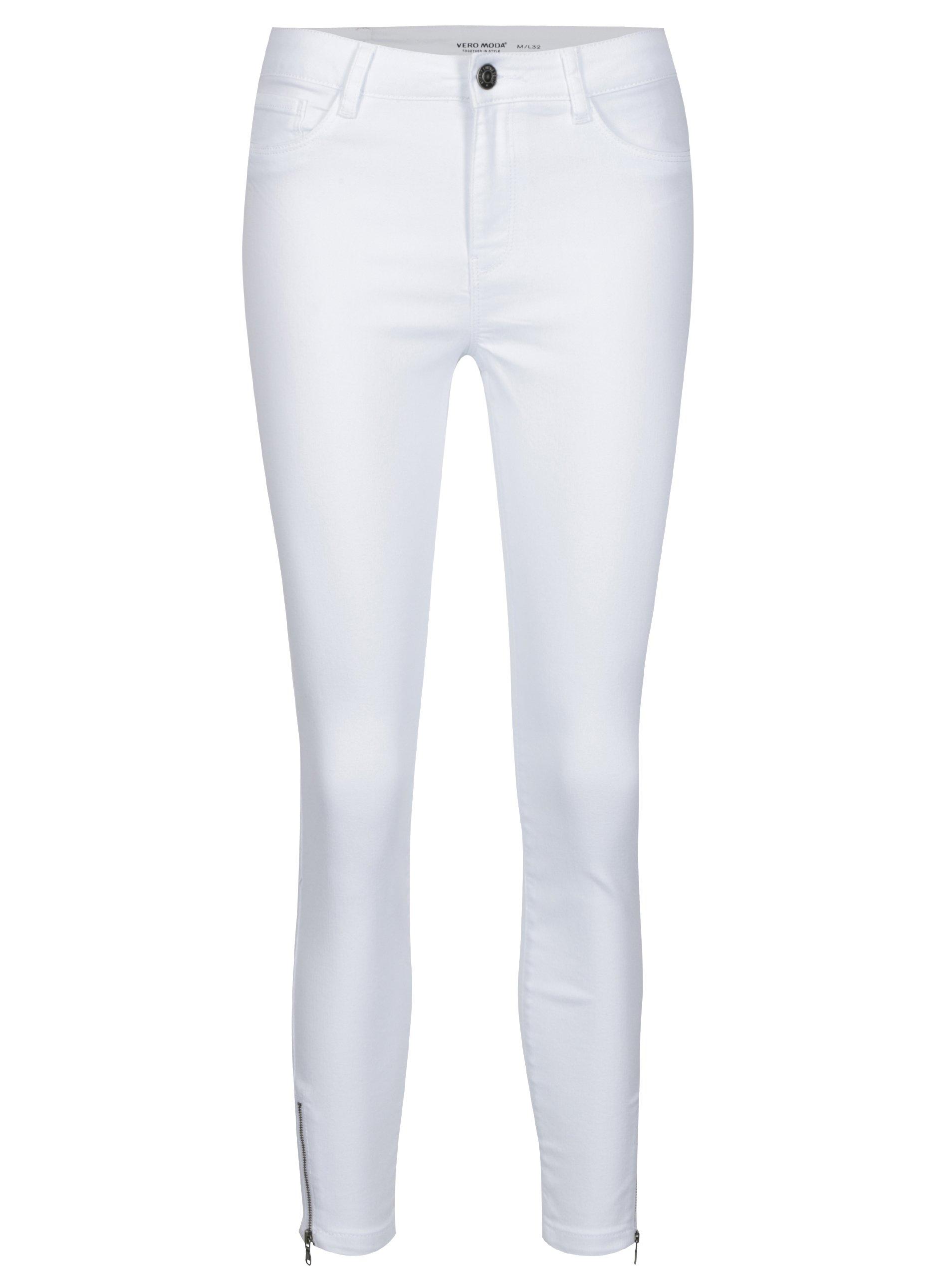 Bílé slim fit džíny VERO MODA Seven