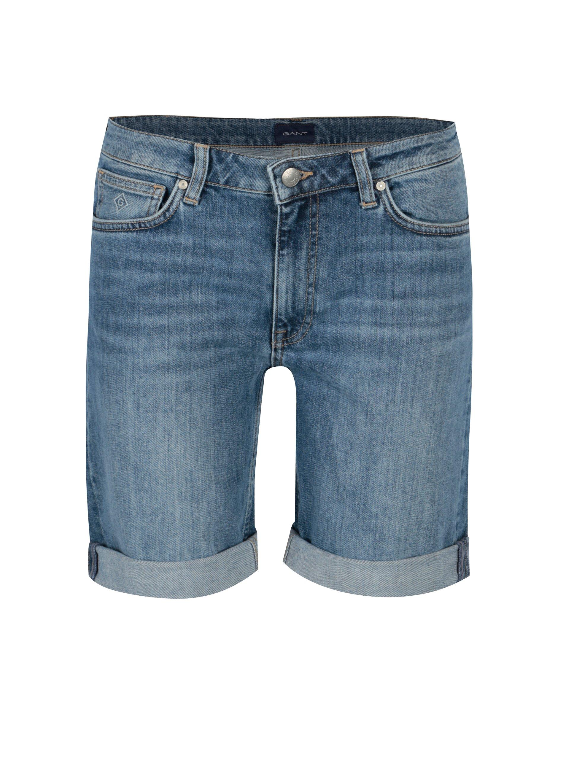 Fotografie Světle modré dámské džínové kraťasy GANT