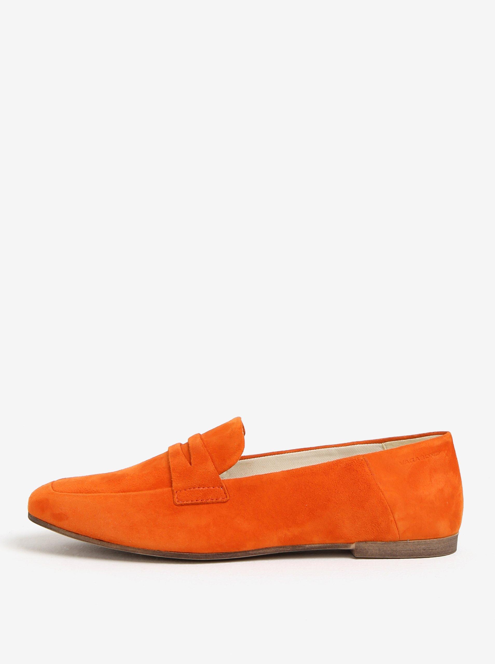 Oranžové semišové mokasíny Vagabond Ayden