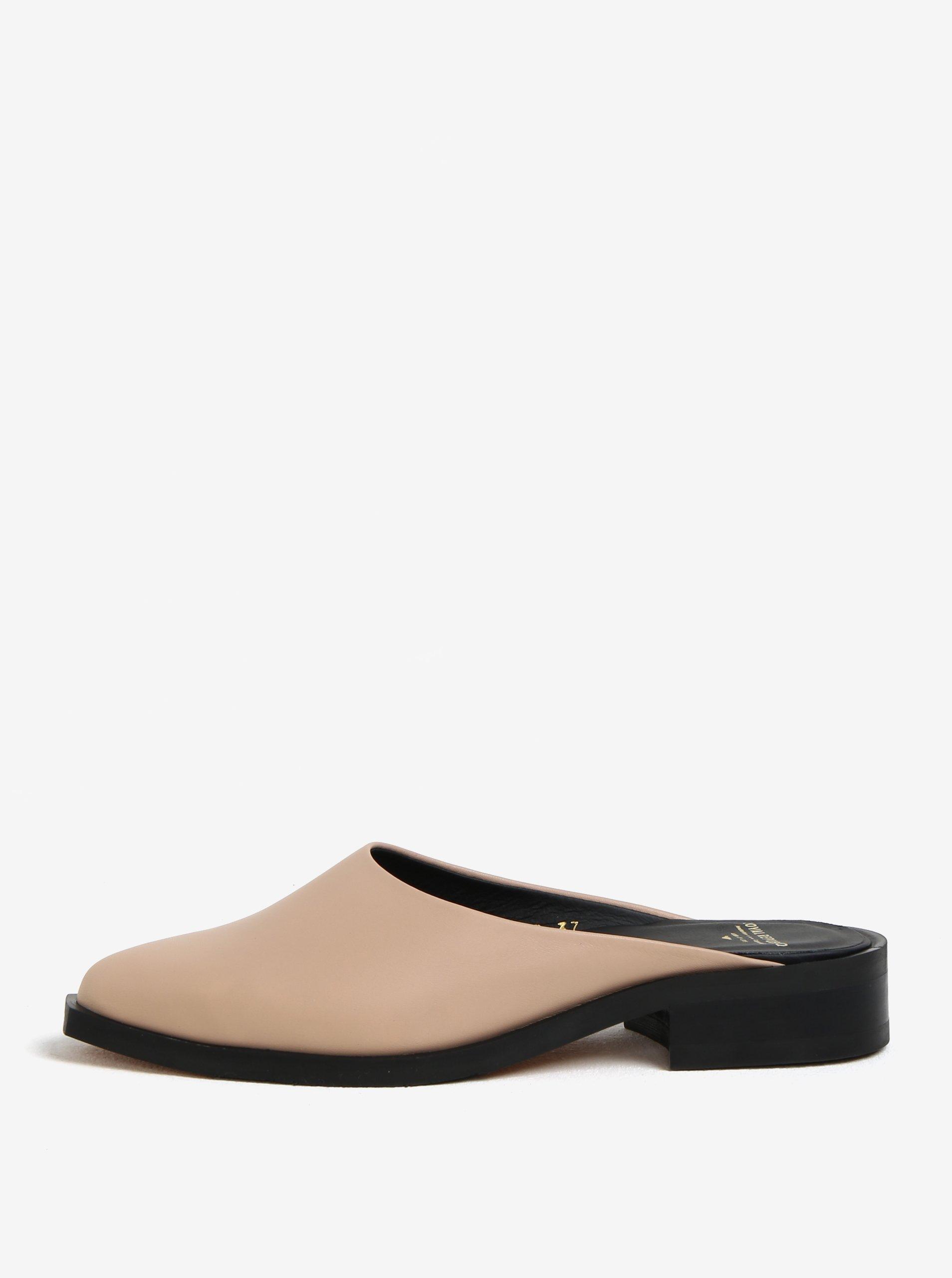 Béžové dámské kožené pantofle Royal RepubliQ 3c8d6caa47