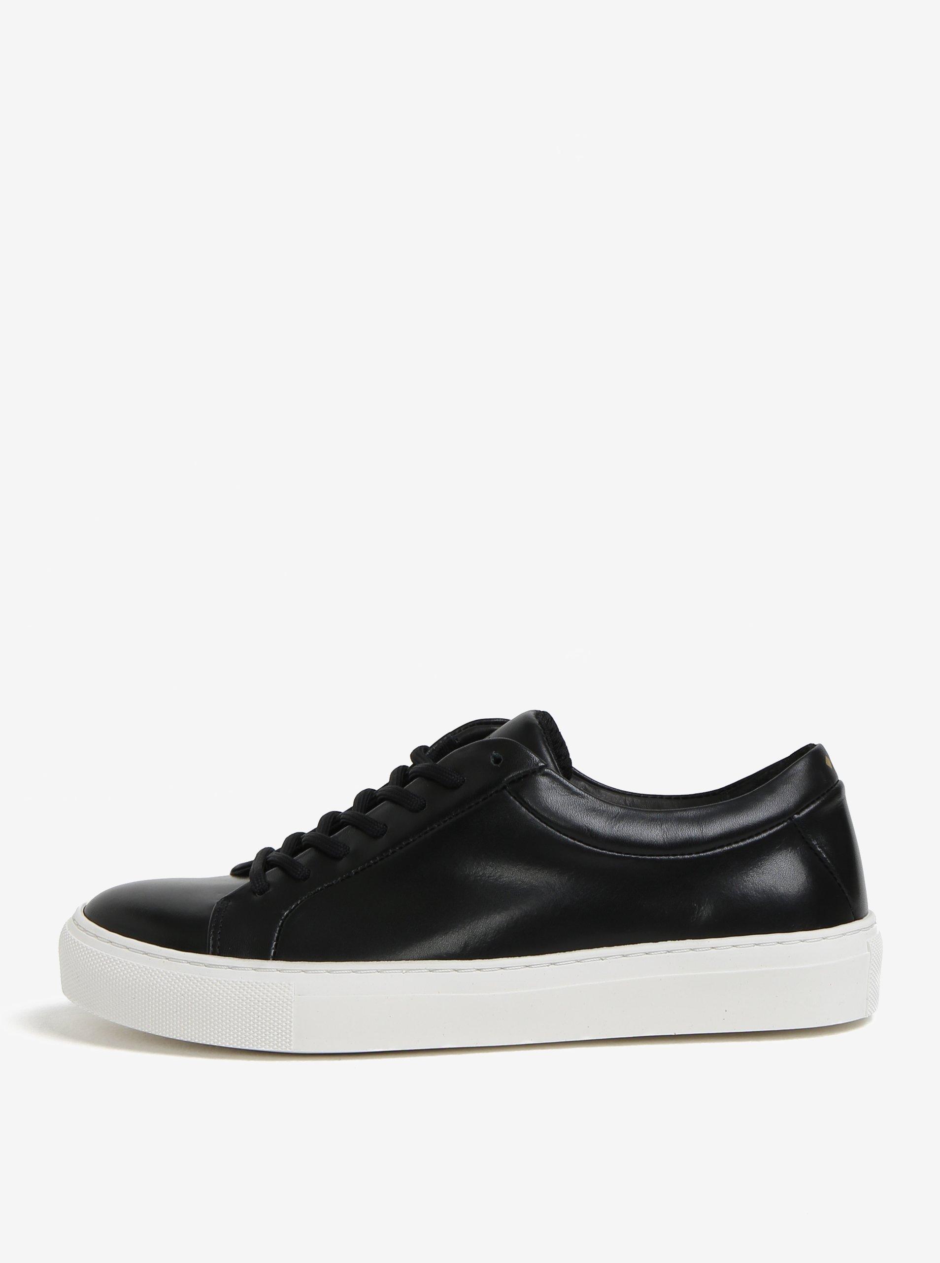 Čierne dámske kožené tenisky Royal RepubliQ