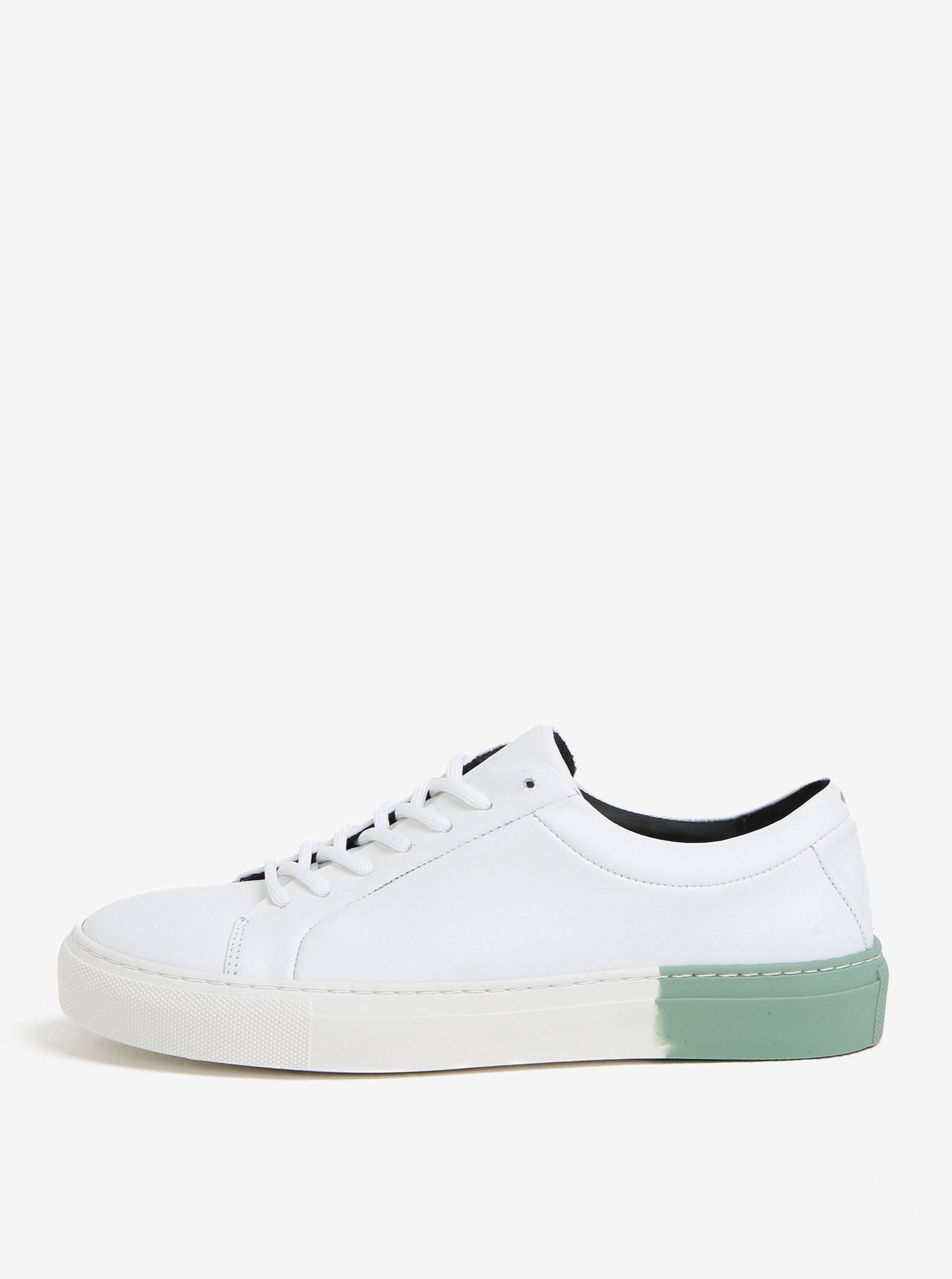 2a847fbd2f92 Zeleno-bílé dámské kožené tenisky Royal RepubliQ