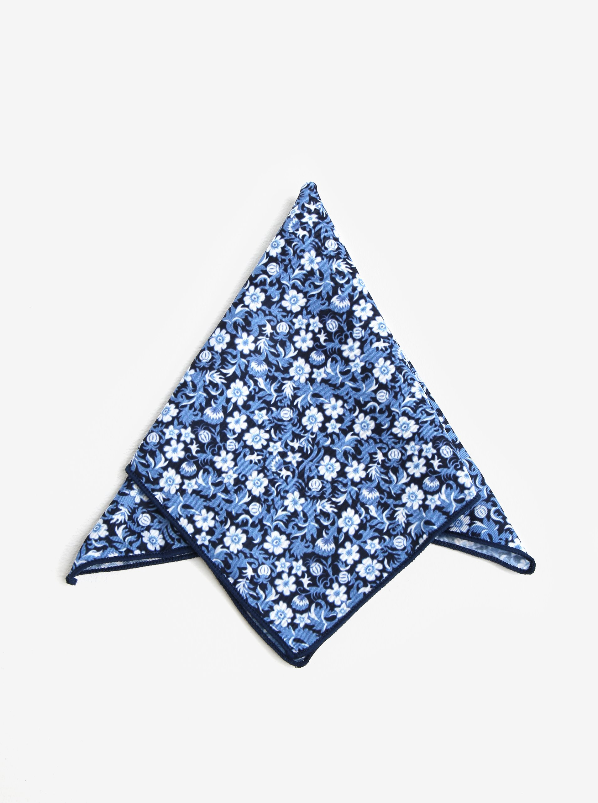 Tmavě modrý vzorovaný kapesník do saka Jack & Jones Russel