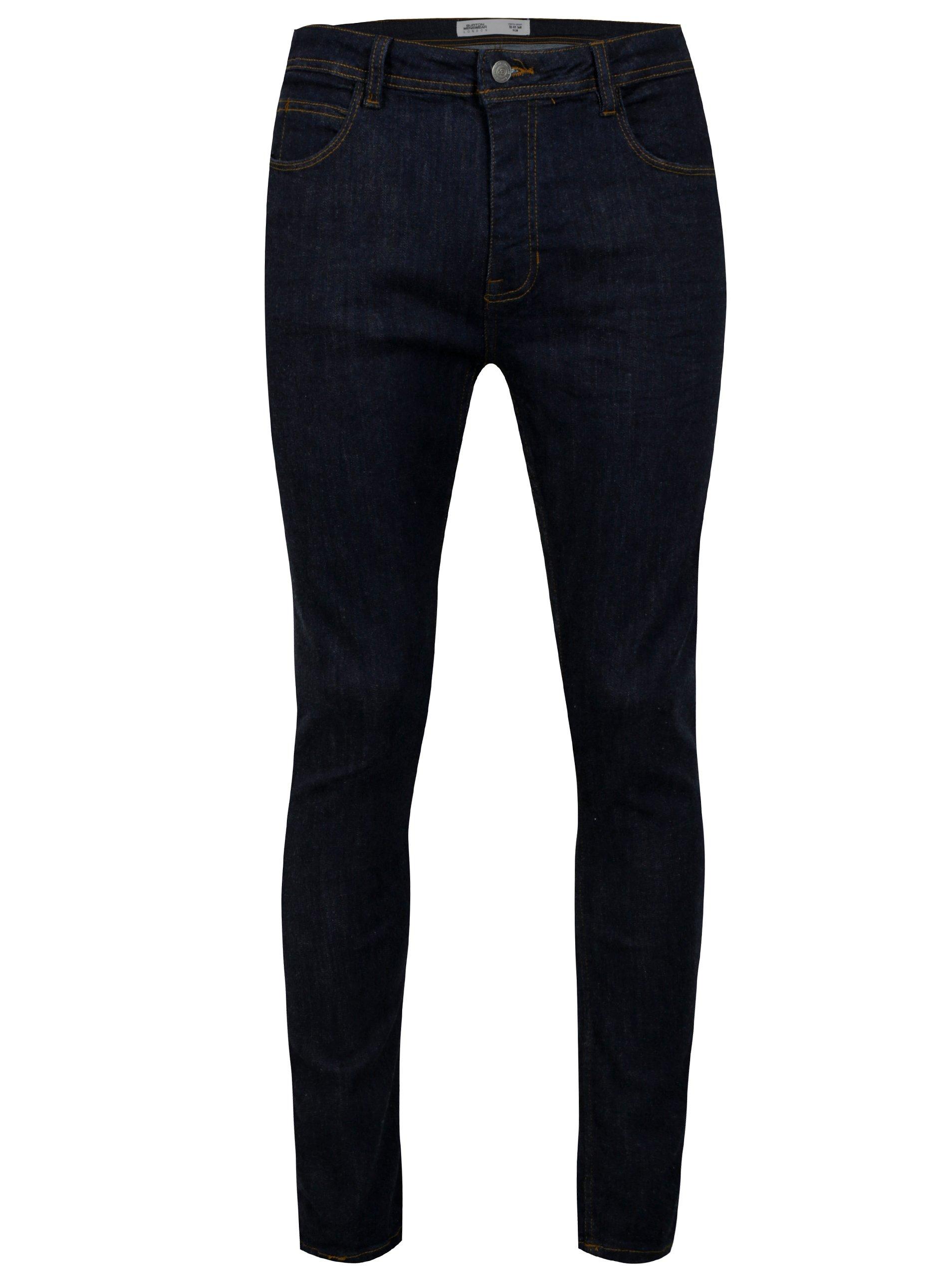 Tmavě modré pánské skinny džíny Burton Menswear London