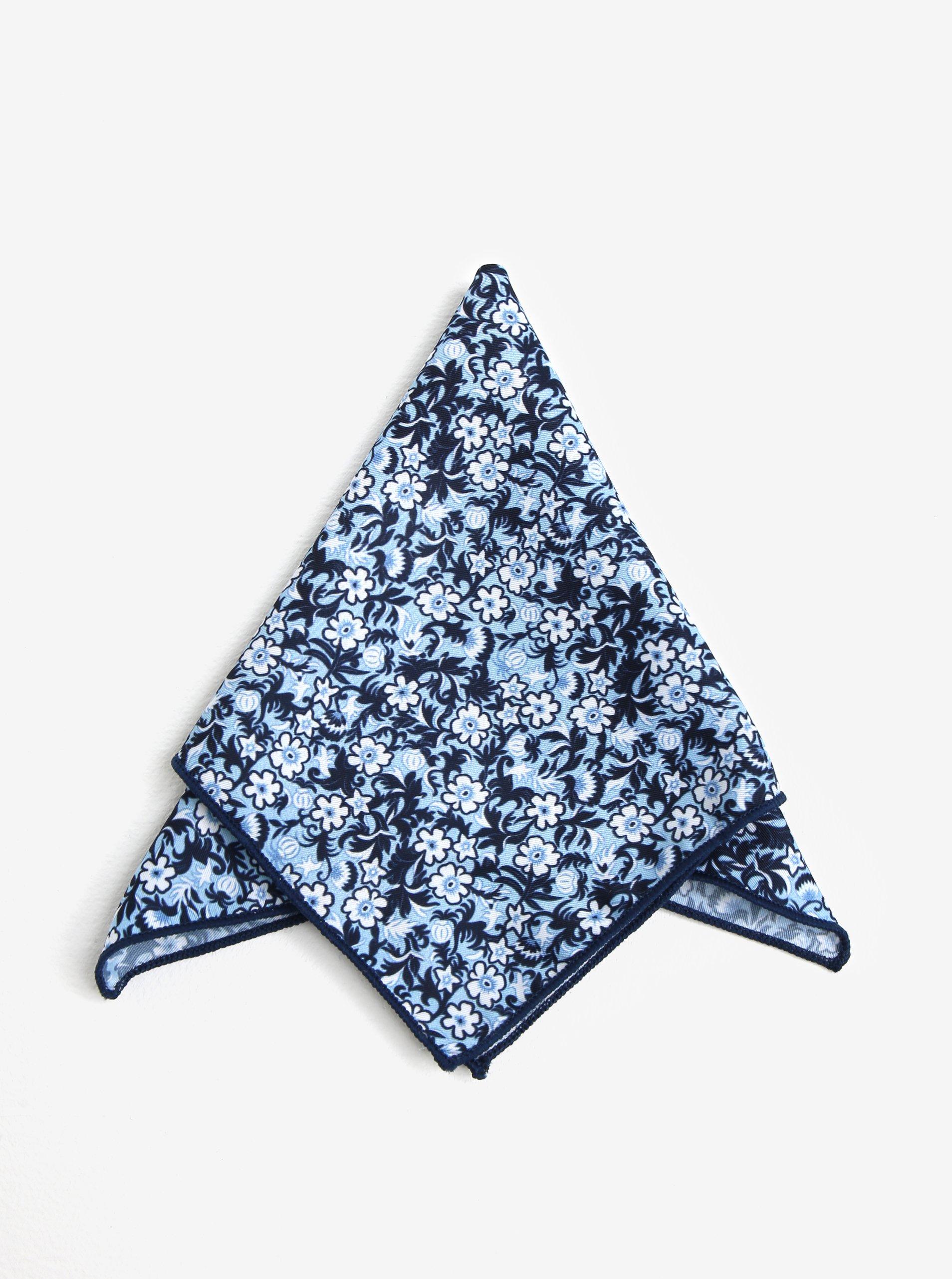Světle modrý vzorovaný kapesník do saka Jack & Jones Russel