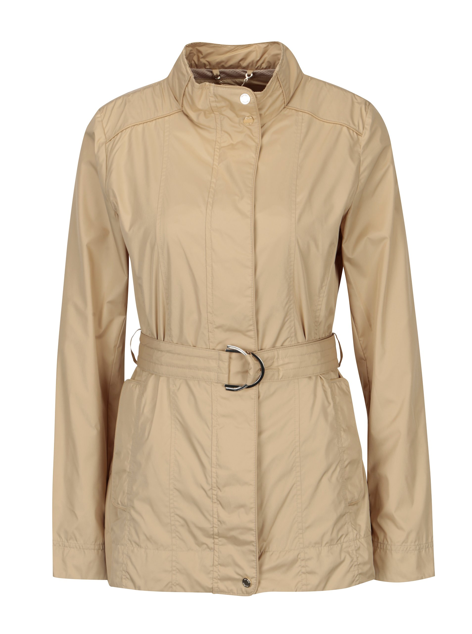 Fotografie Béžová dámská lehká bunda s páskem Geox