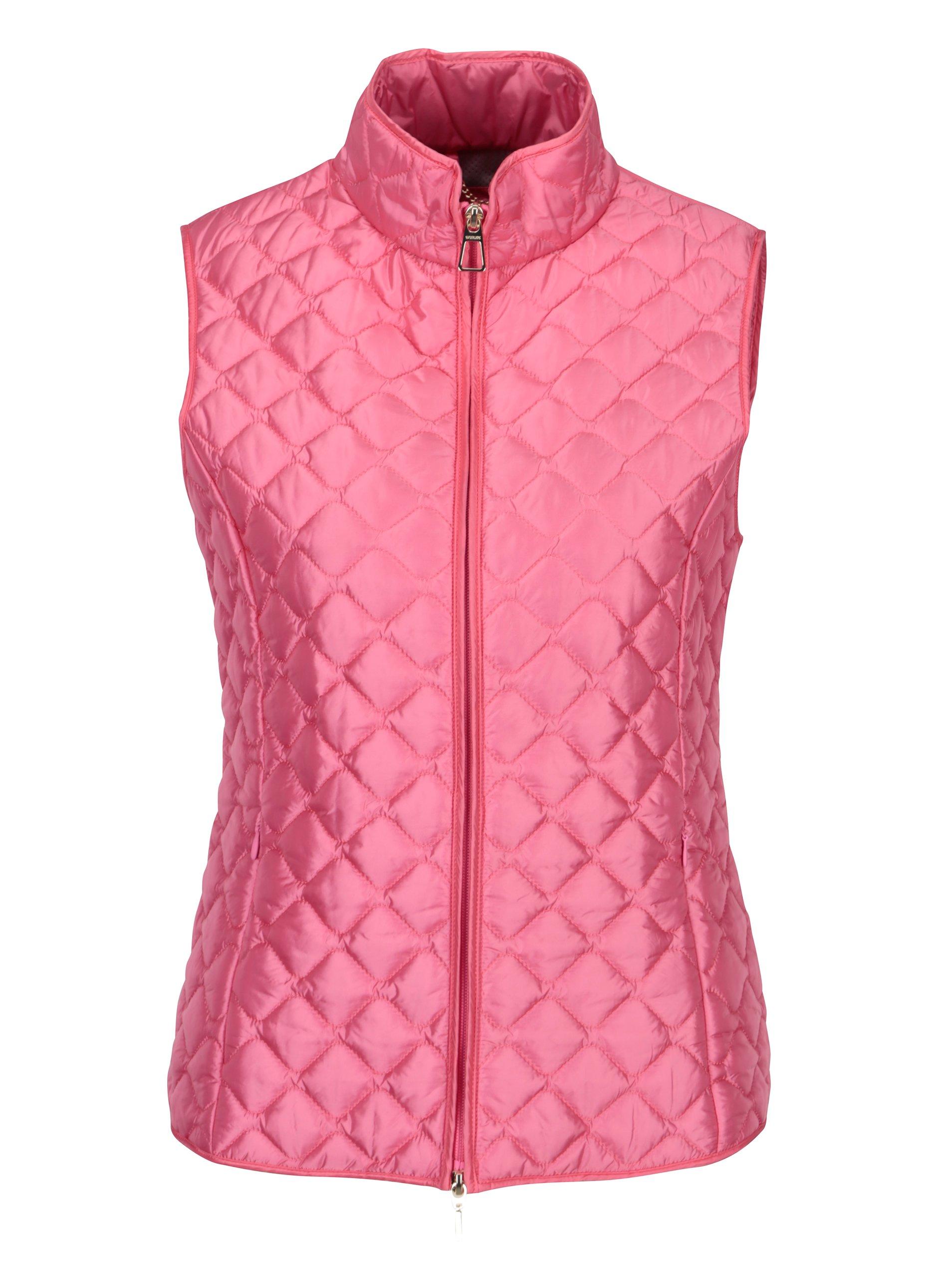 Fotografie Růžová dámská prošívaná vesta Geox