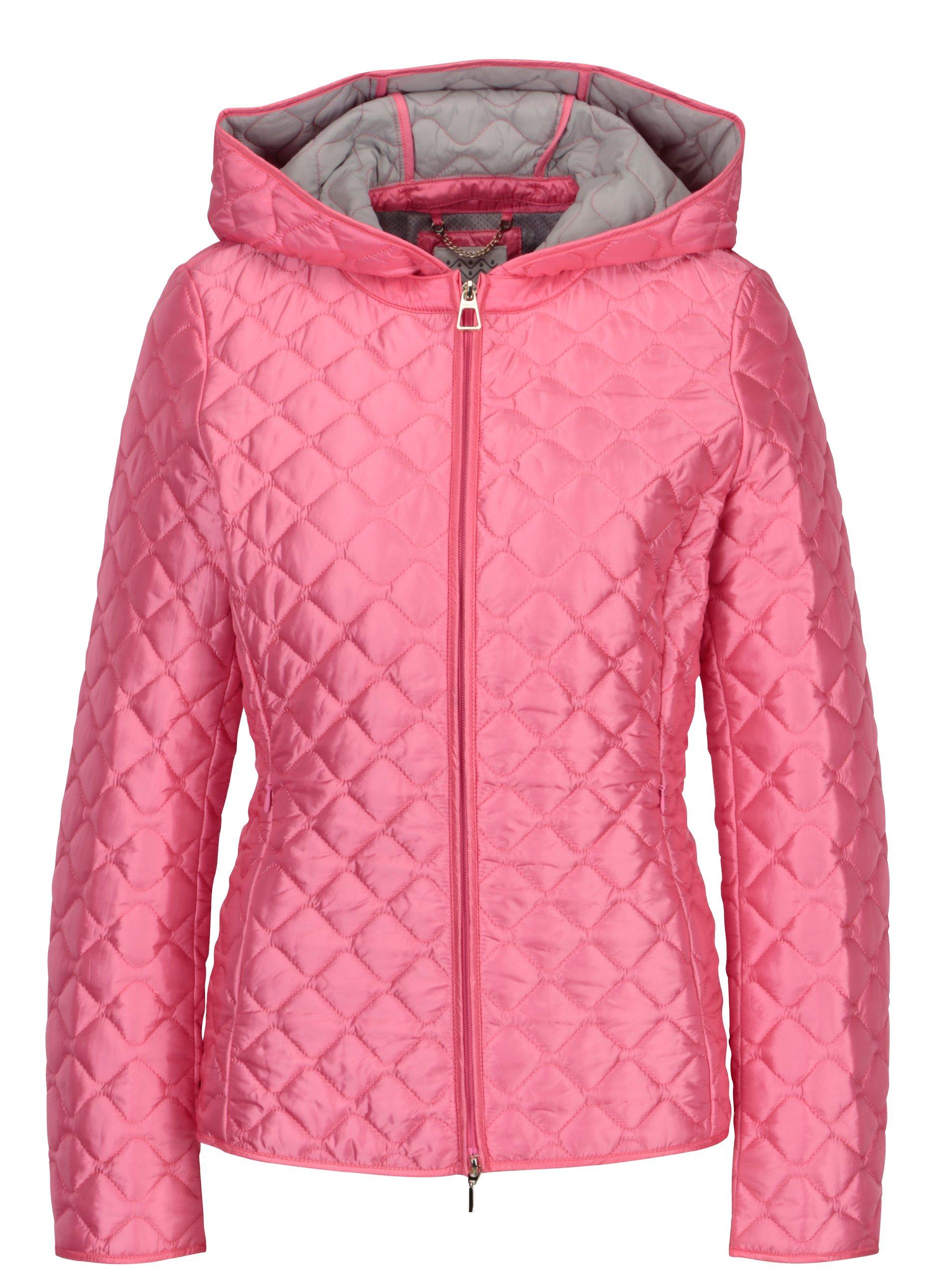 Fotografie Růžová dámská prošívaná lehká bunda Geox
