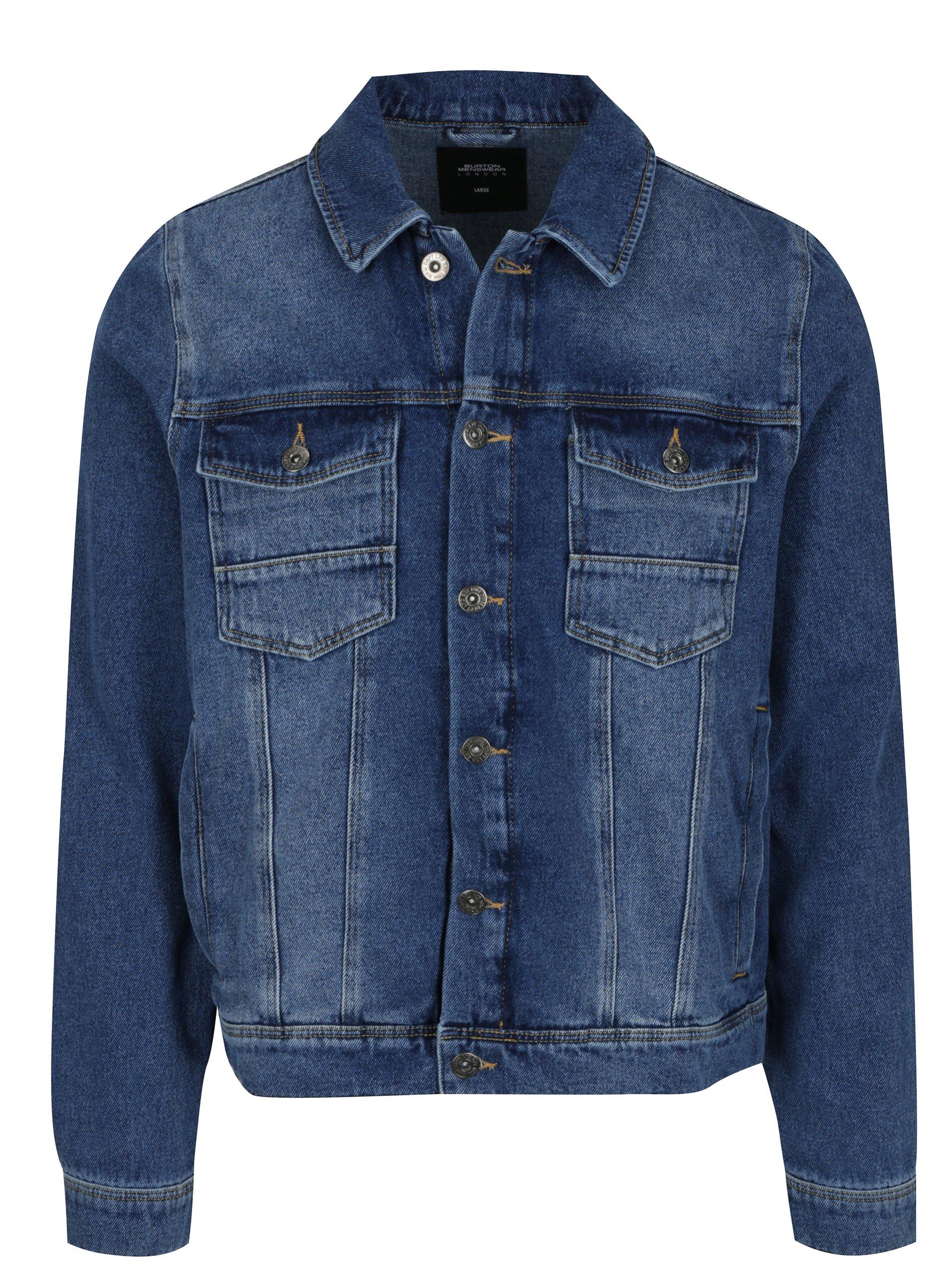 Modrá pánská džínová bunda Burton Menswear London