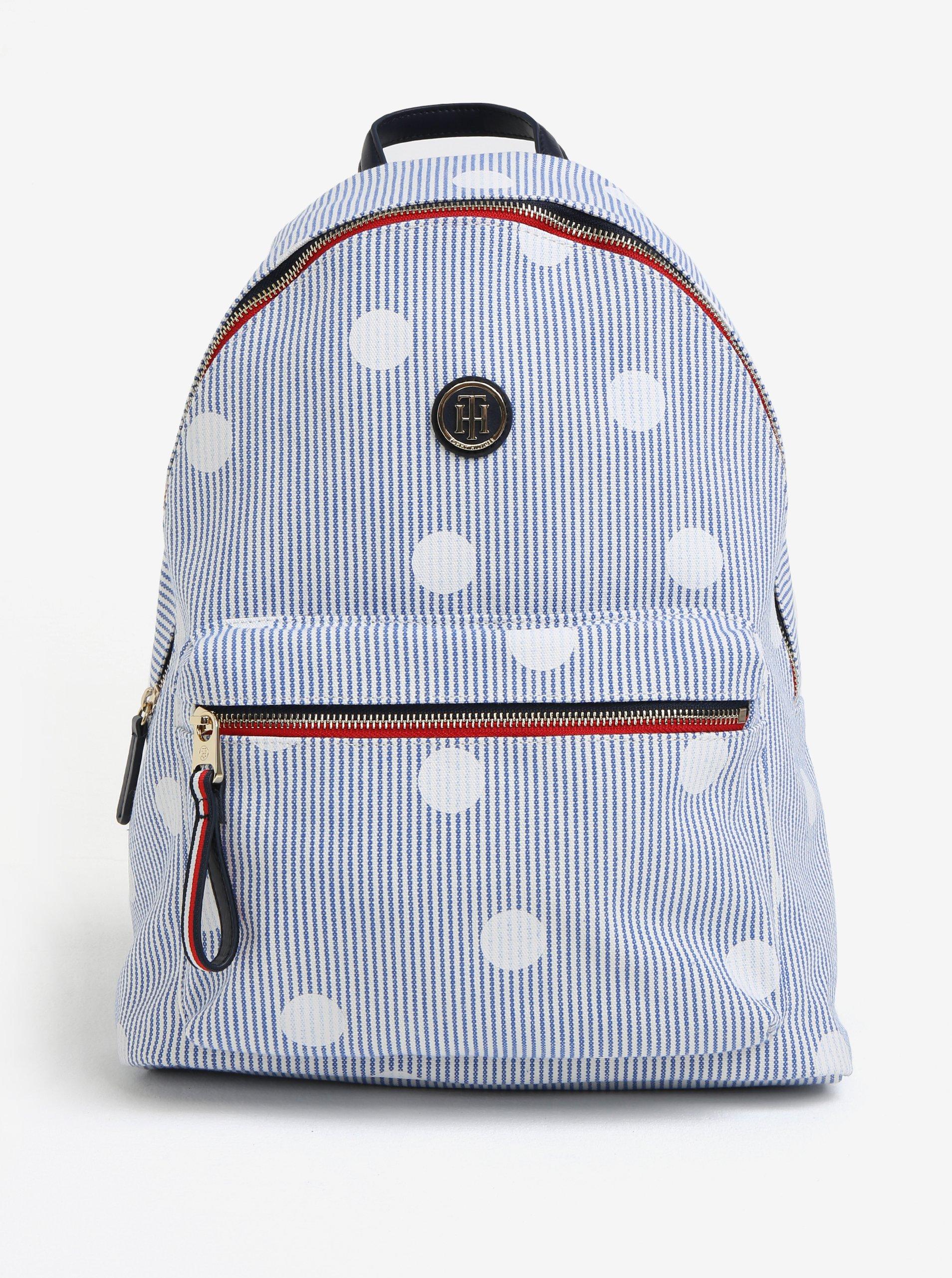 Světle modrý vzorovaný batoh Tommy Hilfiger