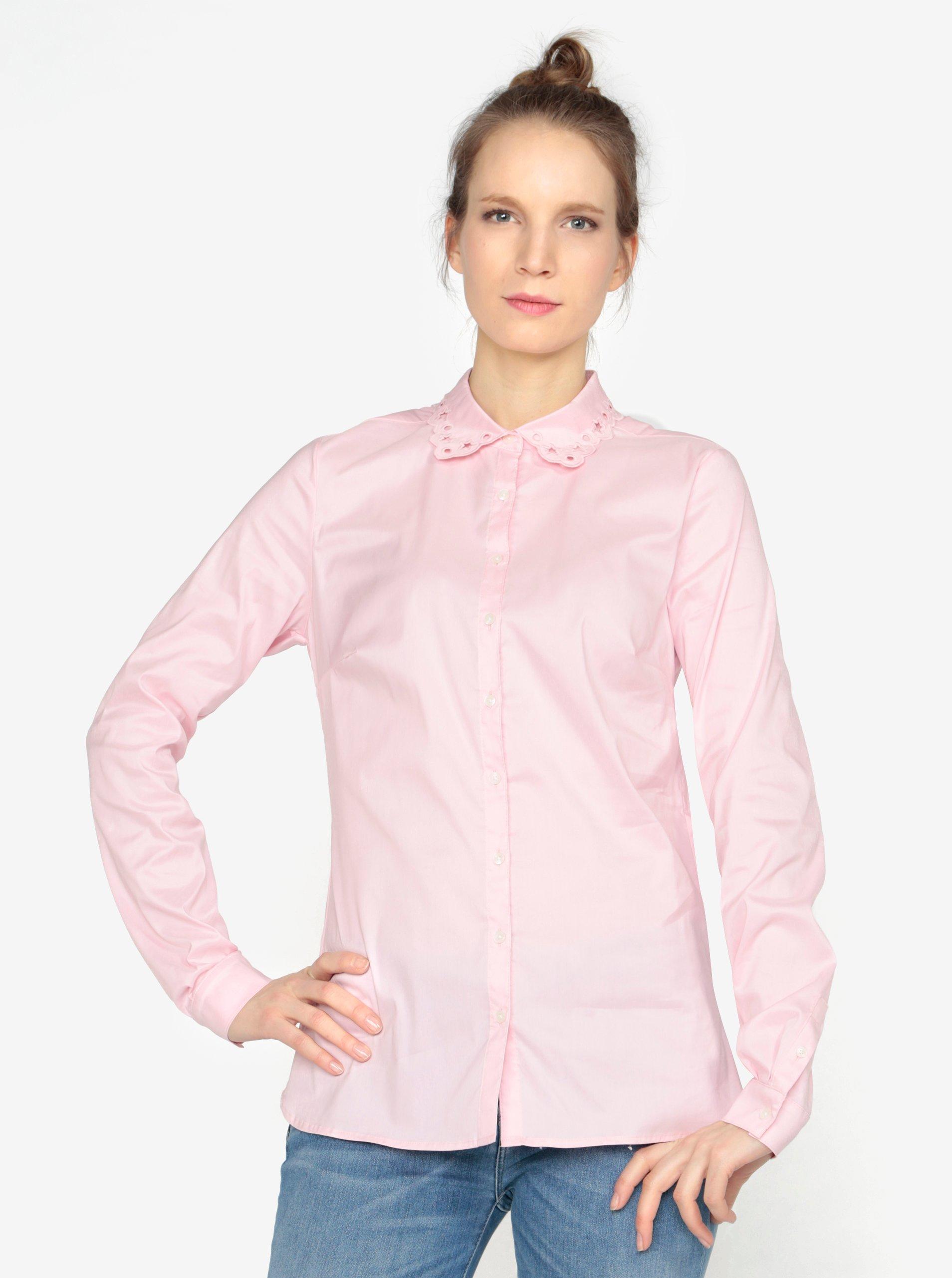 Světle růžová dámská košile Tommy Hilfiger
