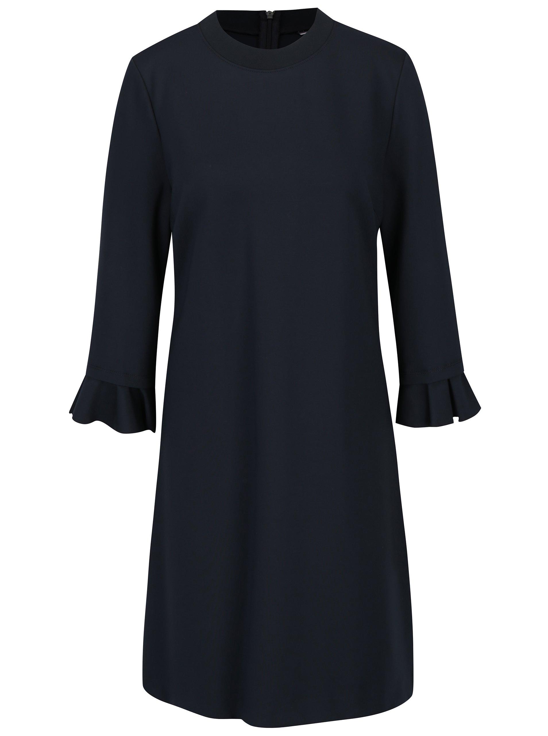 8731eec3ad Tmavě modré šaty s 3 4 rukávem Tommy Hilfiger – Kvalitní oblečení