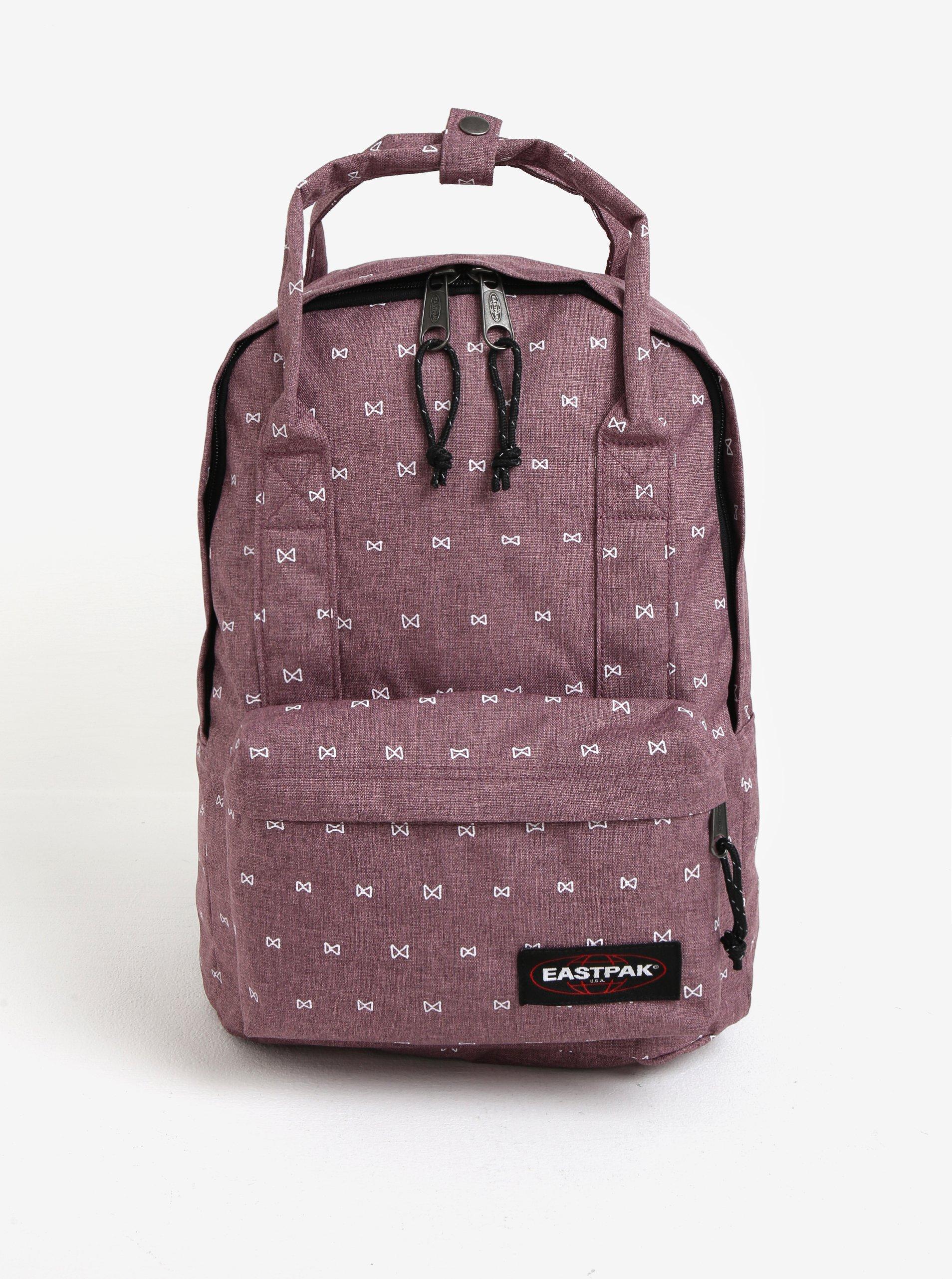 Světle fialový dámský vzorovaný batoh Eastpak Padded Shop´r 15 l