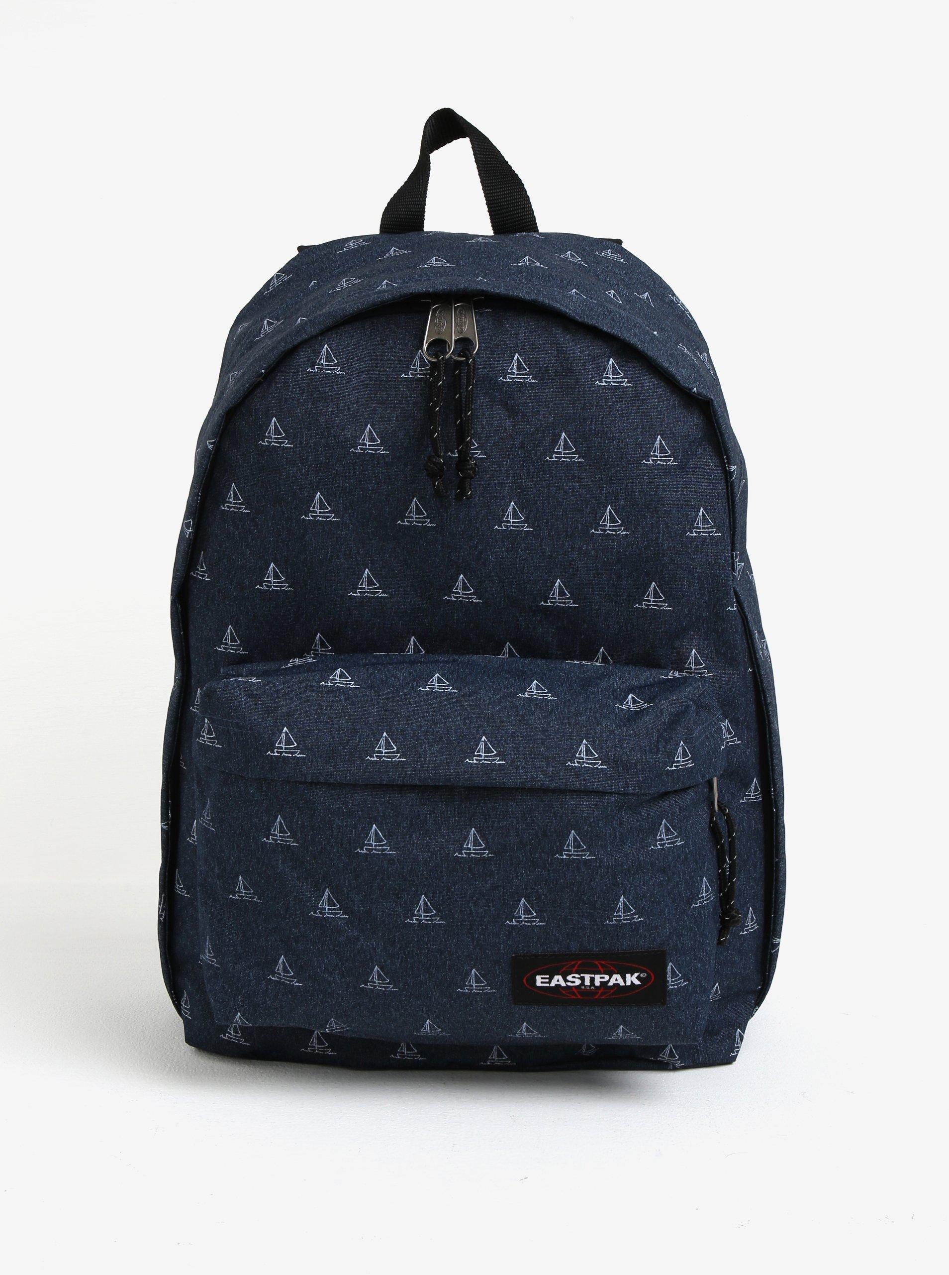 Tmavě modrý vzorovaný batoh Eastpak Out of Office 27 l